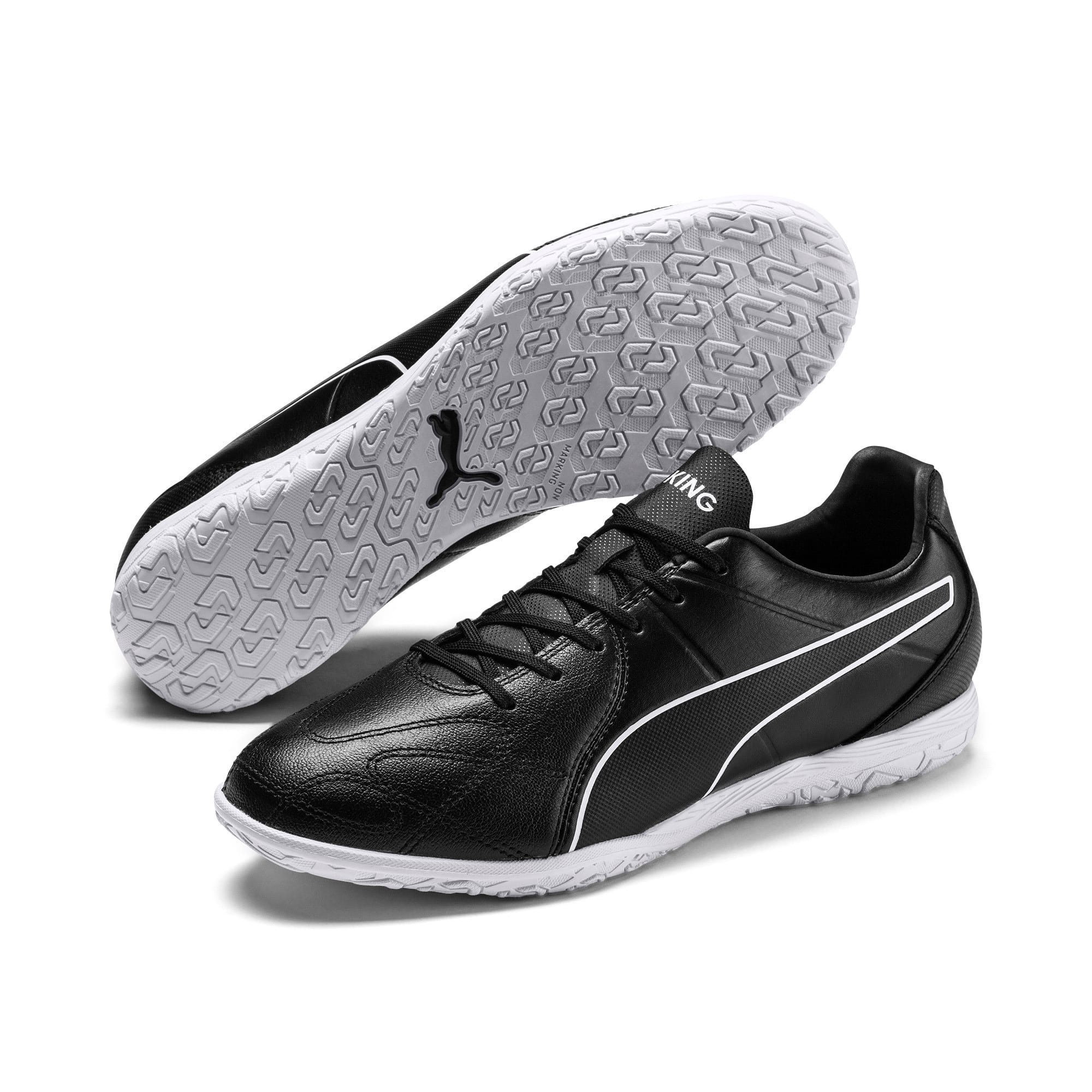 Thumbnail 4 of KING Hero IT Football Boots, Puma Black-Puma White, medium-IND