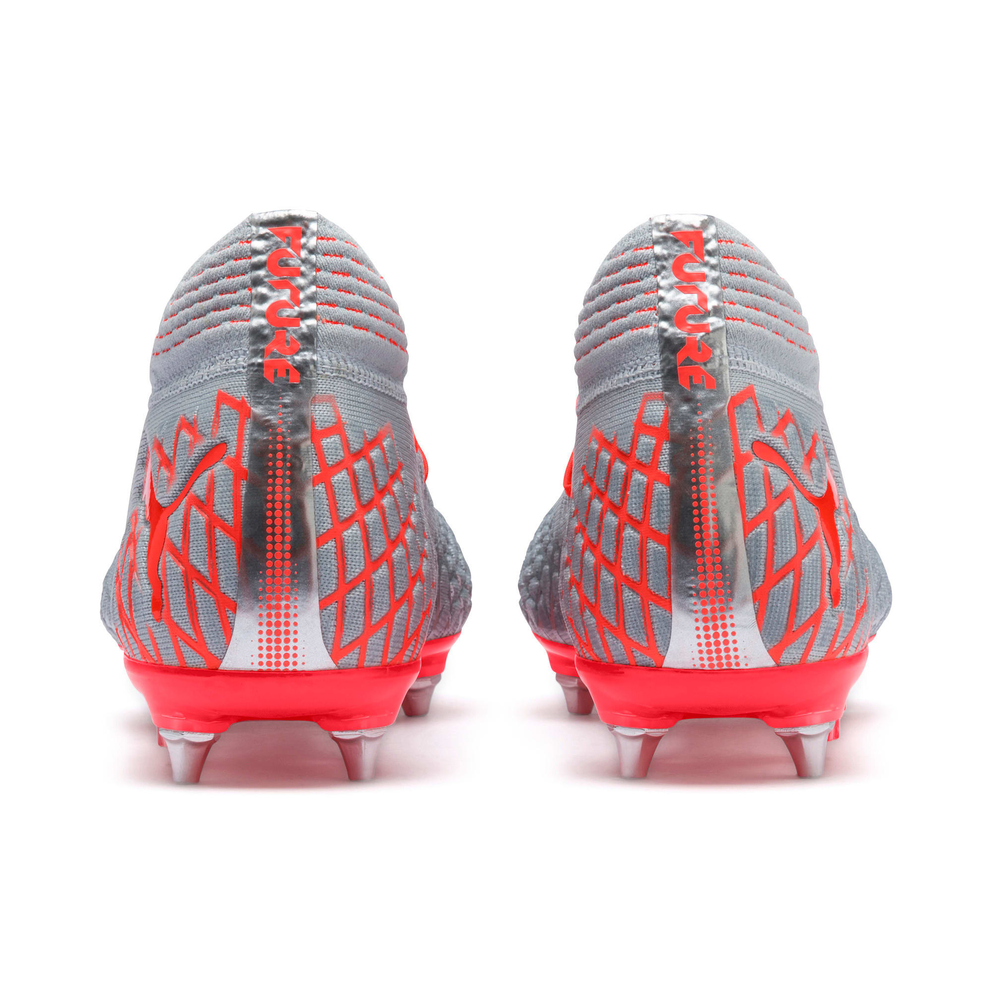 Thumbnail 4 of Scarpe da calcio FUTURE 4.1 NETFIT MxSG, Blue-Nrgy Red-High Risk Red, medium