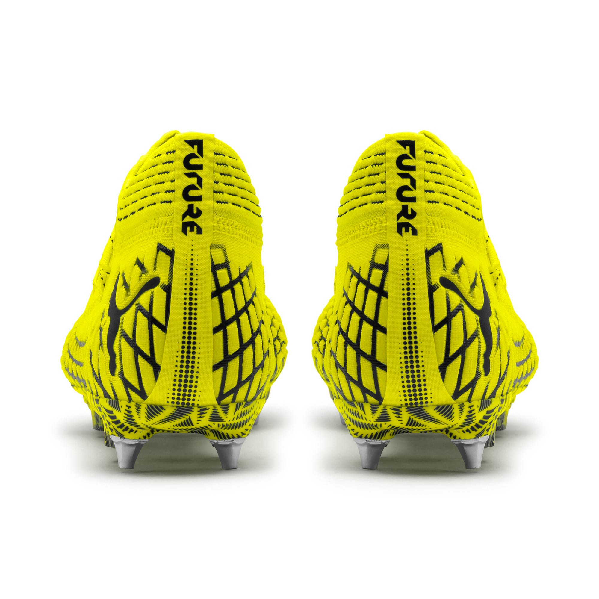 Thumbnail 3 of FUTURE 4.1 NETFIT MxSG Football Boots, Yellow Alert-Puma Black, medium