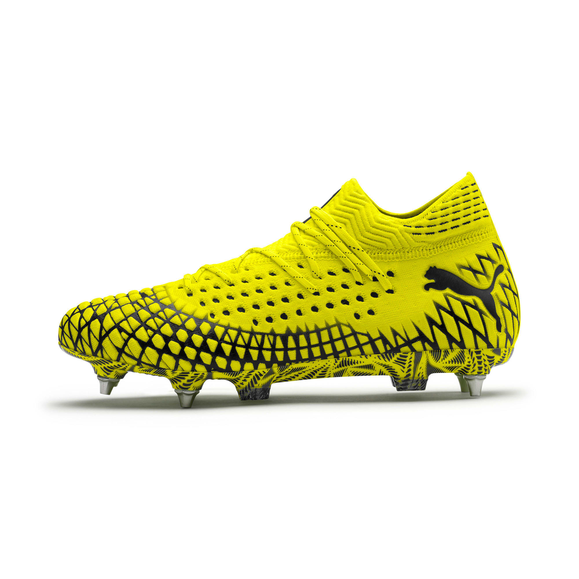 Thumbnail 1 of FUTURE 4.1 NETFIT MxSG Football Boots, Yellow Alert-Puma Black, medium
