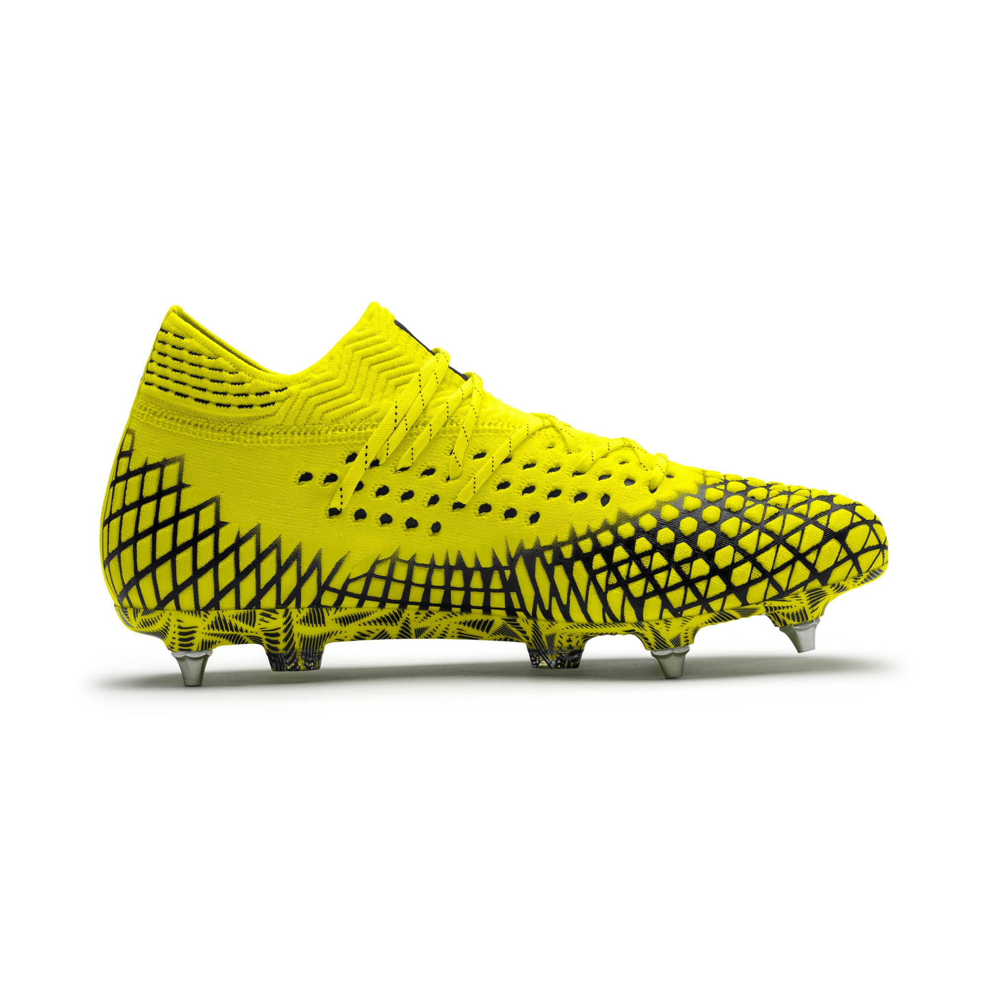 Thumbnail 5 of FUTURE 4.1 NETFIT MxSG Football Boots, Yellow Alert-Puma Black, medium