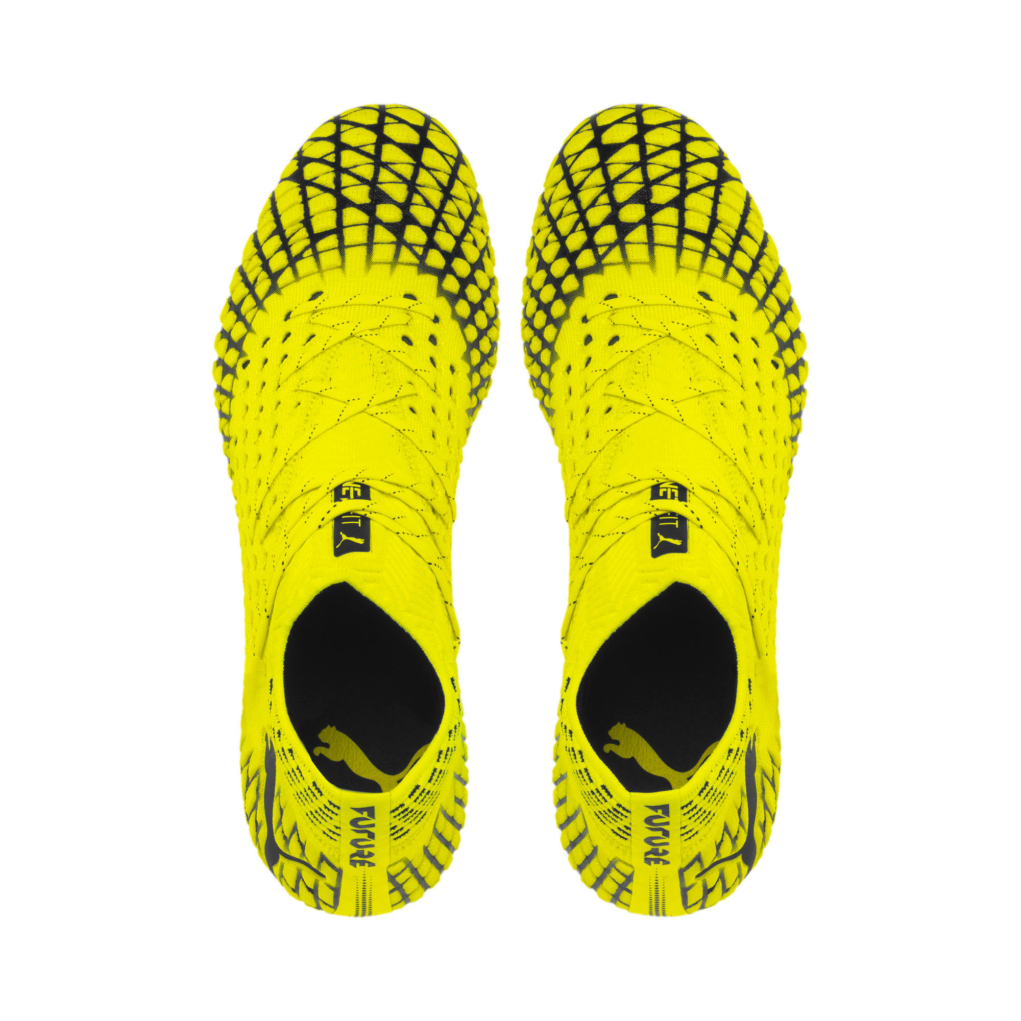 Thumbnail 6 of FUTURE 4.1 NETFIT MxSG Football Boots, Yellow Alert-Puma Black, medium