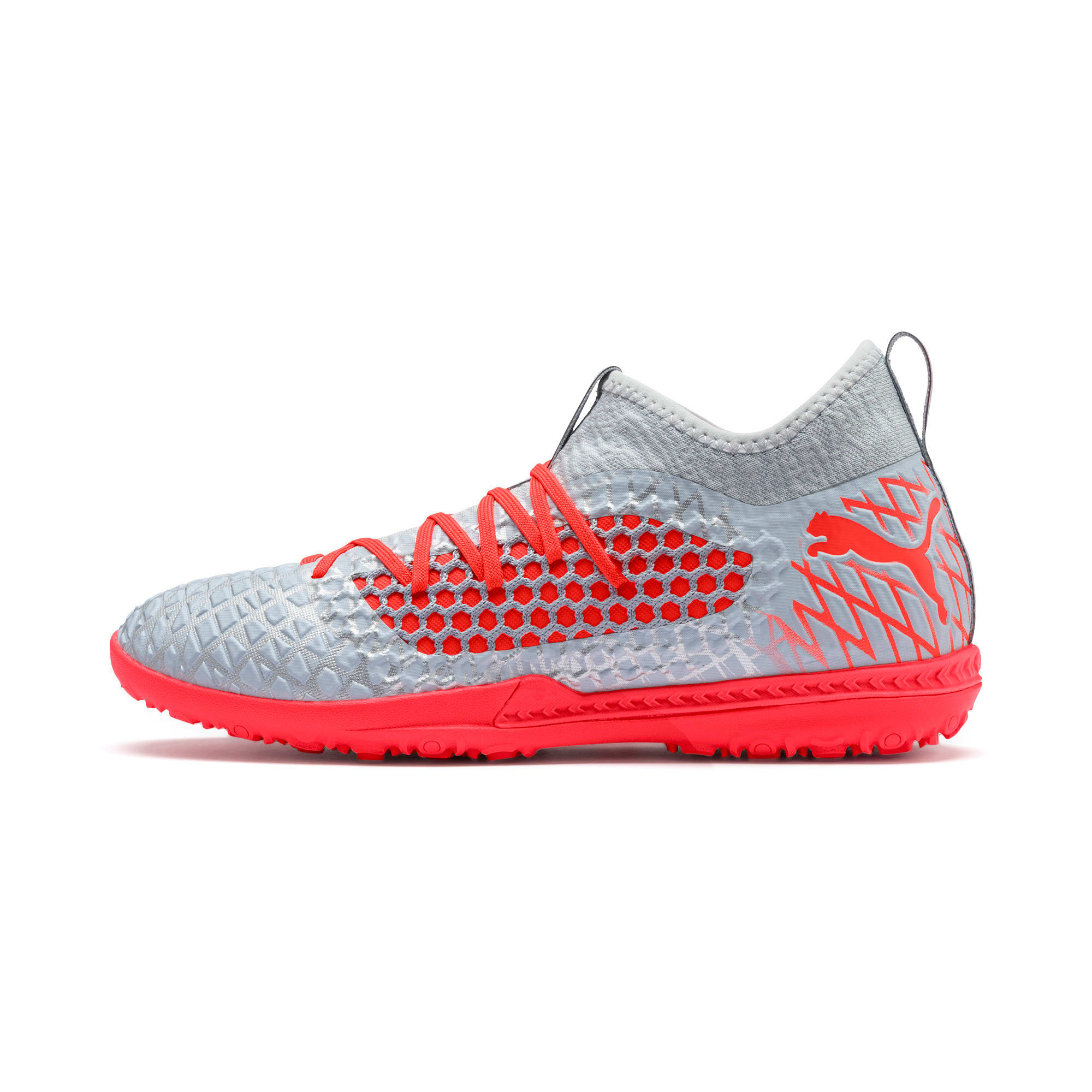 Thumbnail 1 of FUTURE 4.3 NETFIT TT Men's Soccer Shoes, Glacial Blue-Nrgy Red, medium