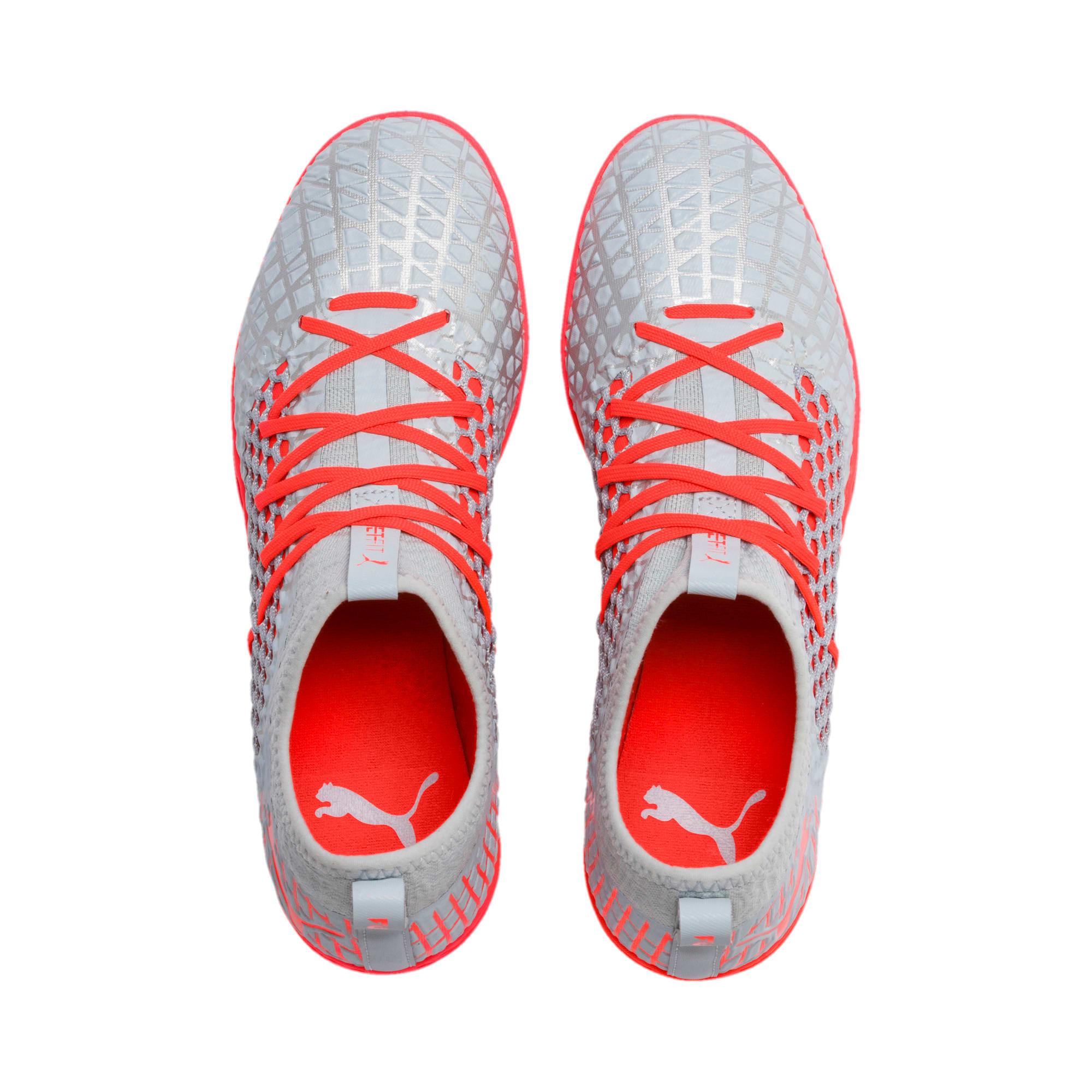 Thumbnail 7 of FUTURE 4.3 NETFIT TT Men's Soccer Shoes, Glacial Blue-Nrgy Red, medium