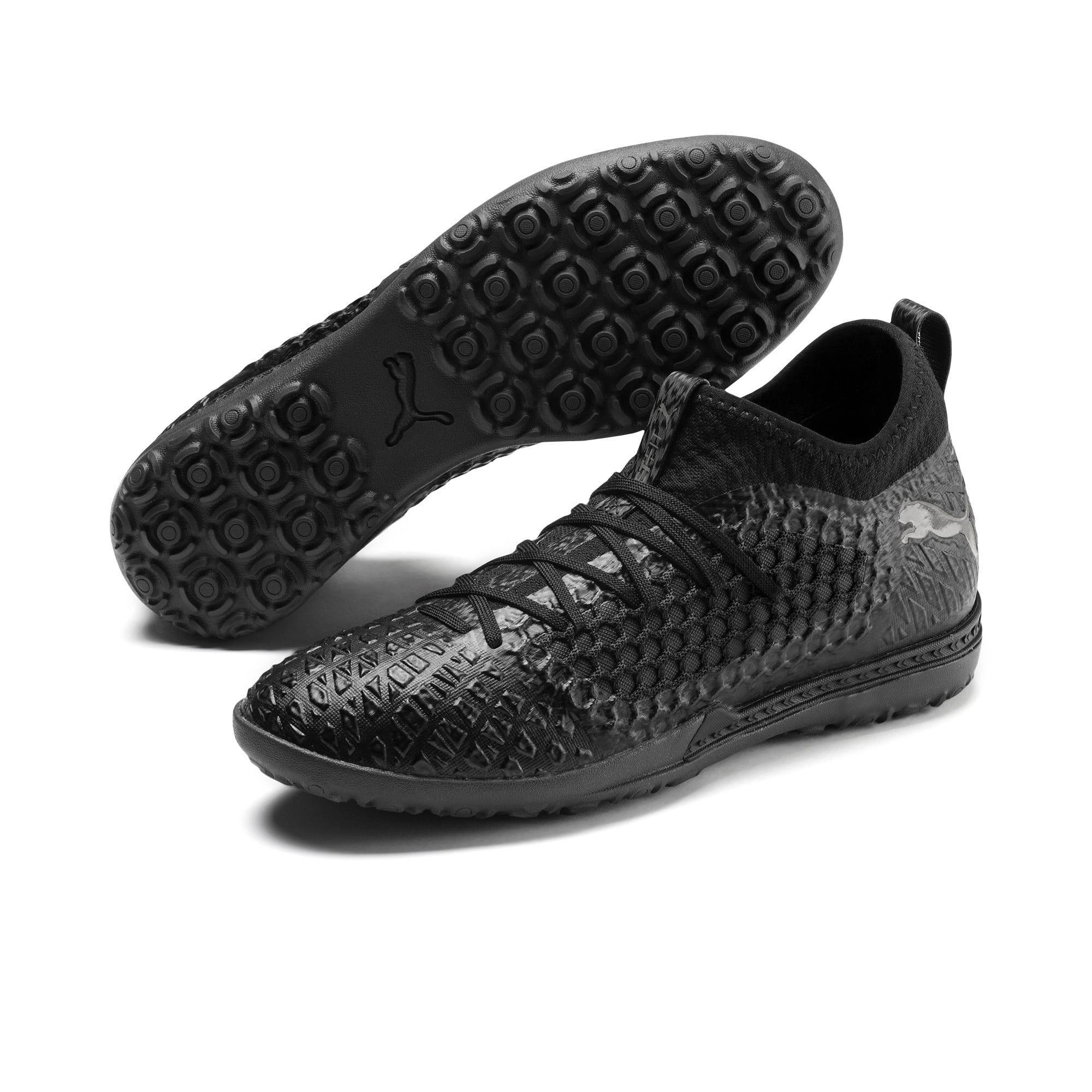Thumbnail 3 of FUTURE 4.3 NETFIT TT Men's Soccer Shoes, Black-Black-Puma Aged Silver, medium
