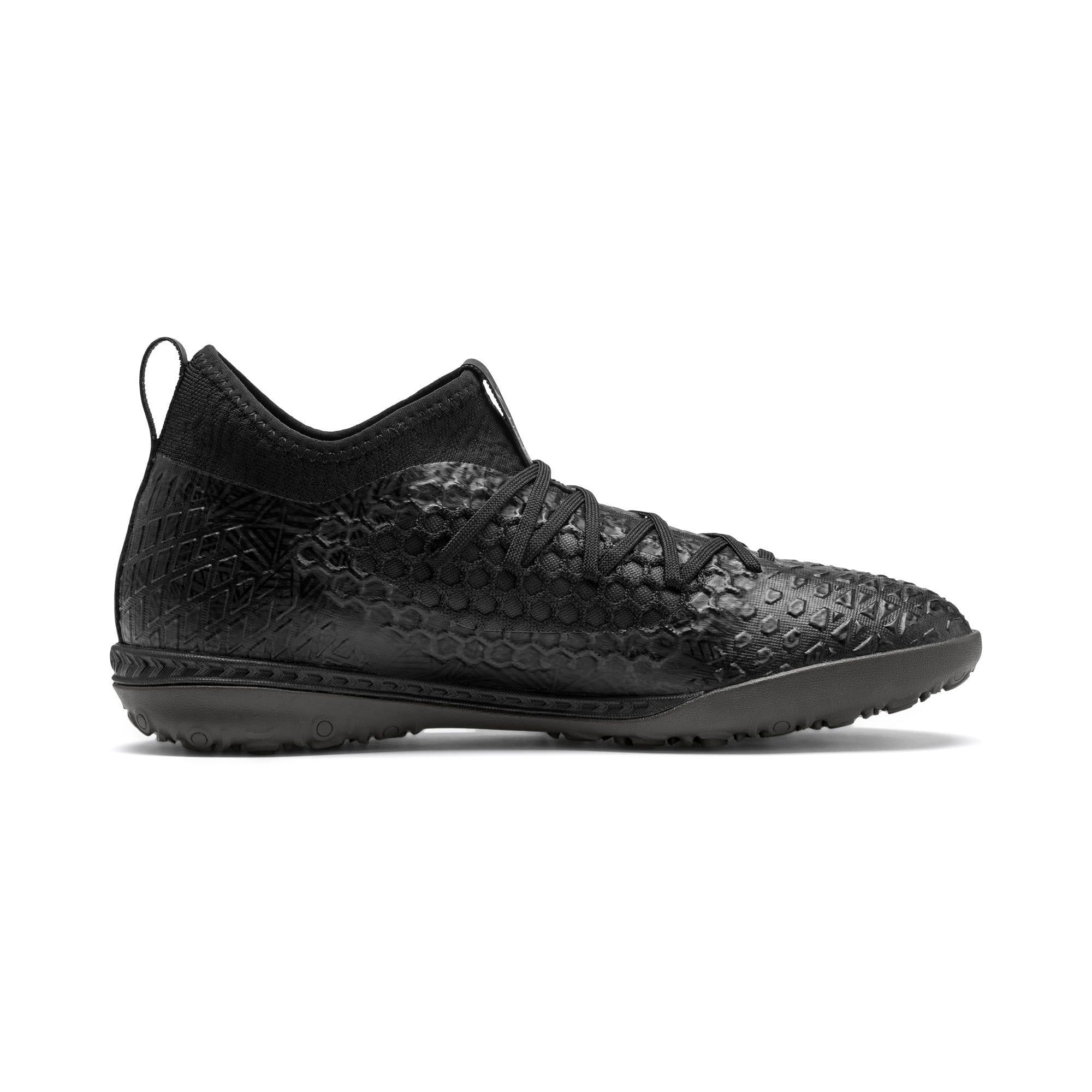 Thumbnail 6 of FUTURE 4.3 NETFIT TT Men's Soccer Shoes, Black-Black-Puma Aged Silver, medium