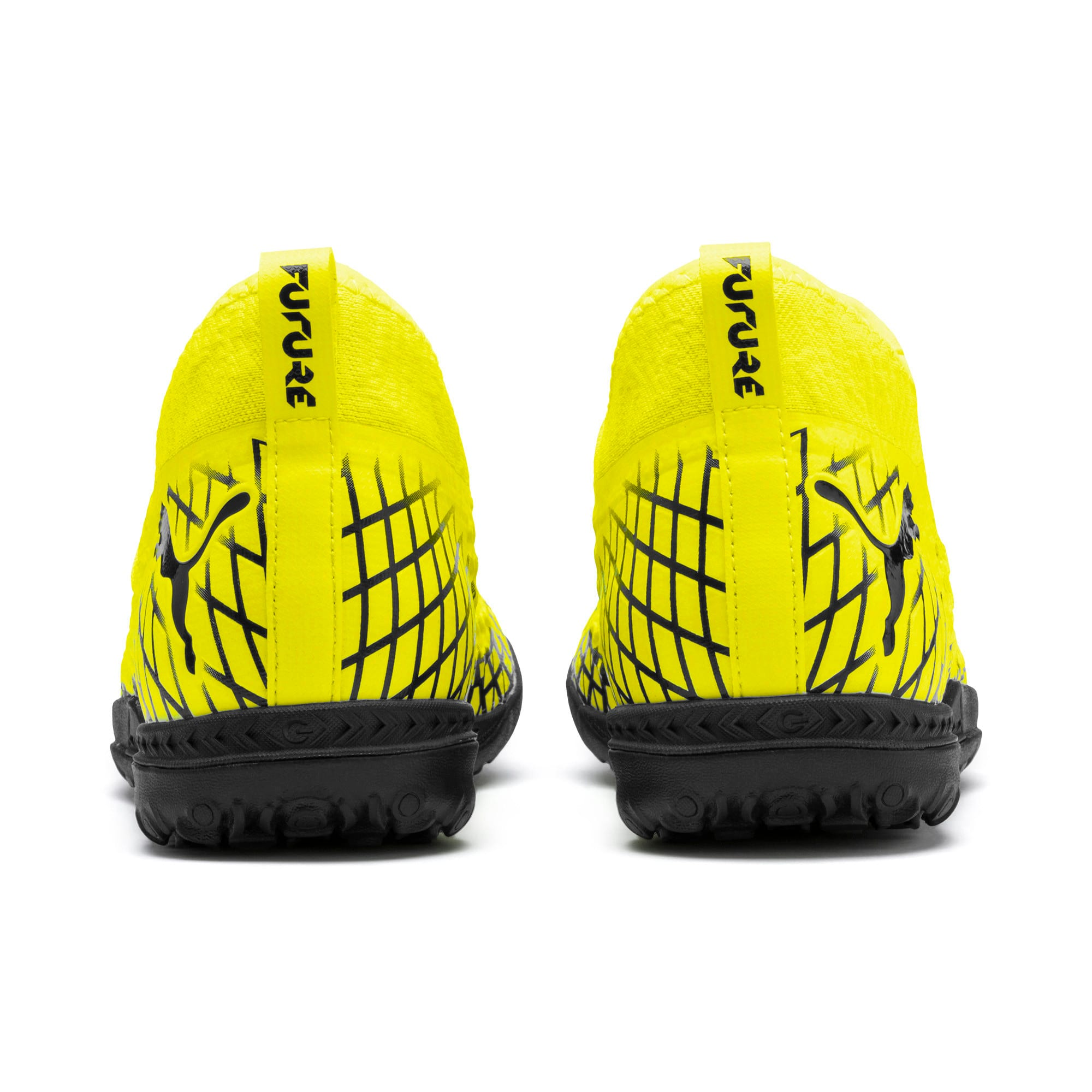 Thumbnail 4 of FUTURE 4.3 NETFIT TT Men's Soccer Shoes, Yellow Alert-Puma Black, medium