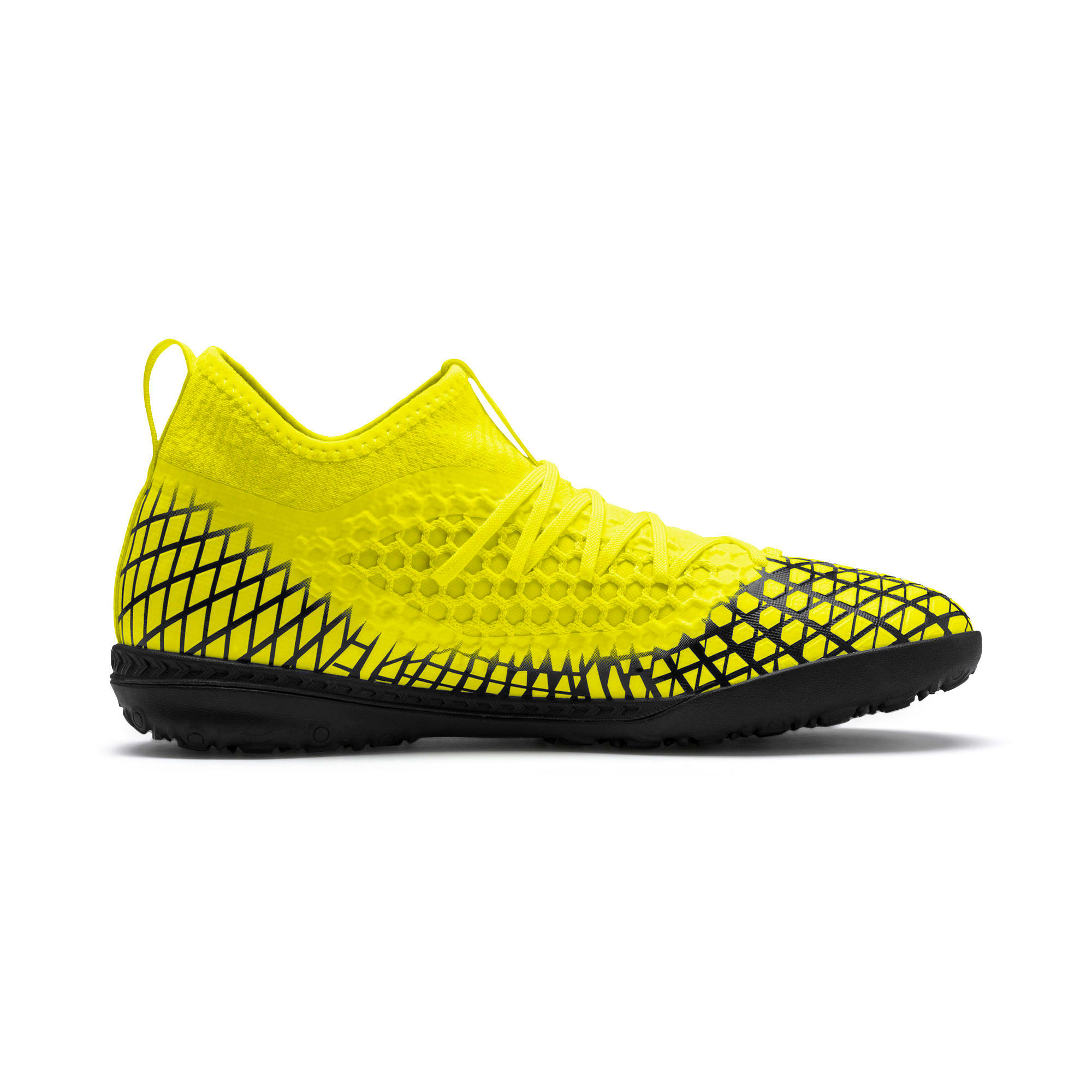 Thumbnail 6 of FUTURE 4.3 NETFIT TT Men's Soccer Shoes, Yellow Alert-Puma Black, medium