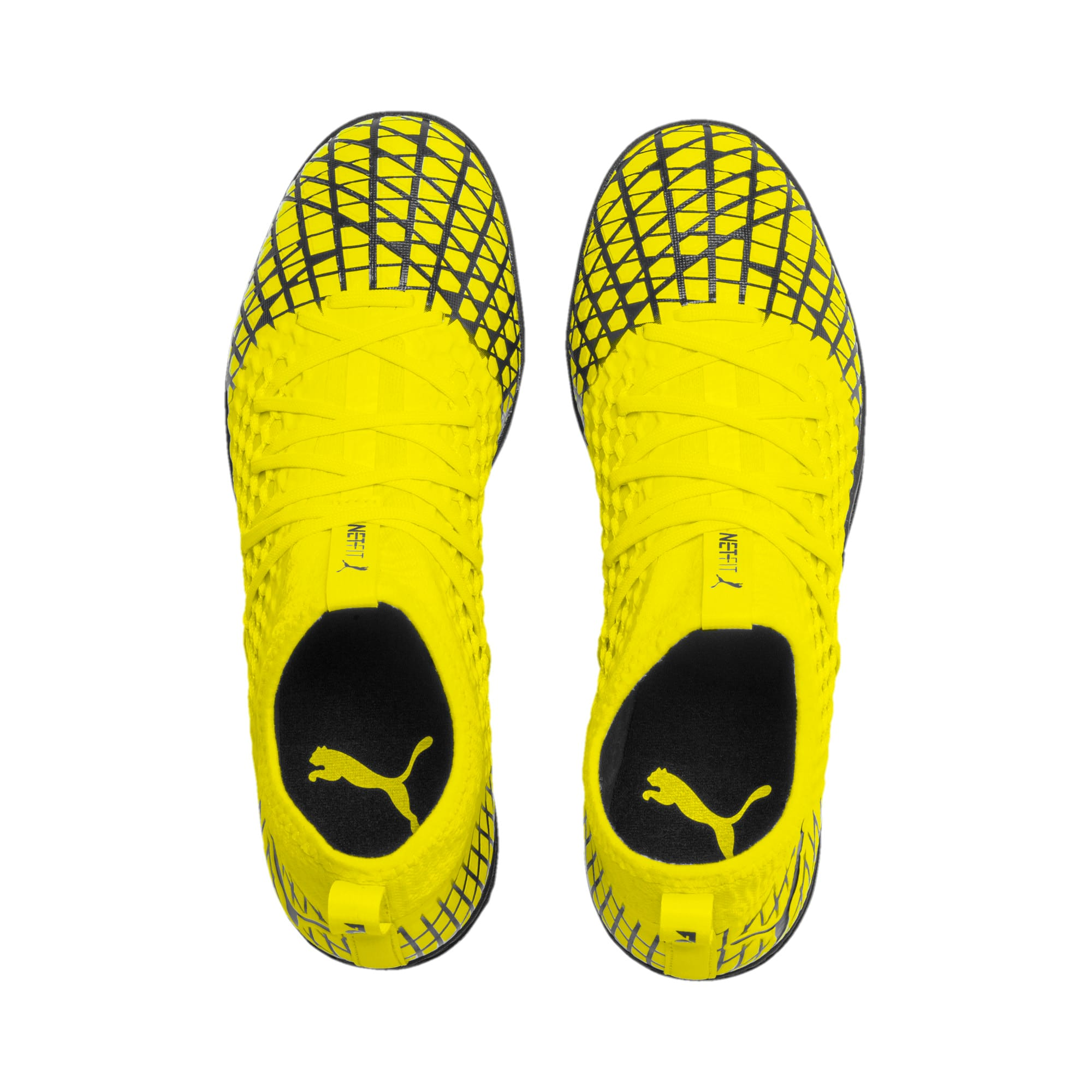 Thumbnail 7 of FUTURE 4.3 NETFIT TT Men's Soccer Shoes, Yellow Alert-Puma Black, medium