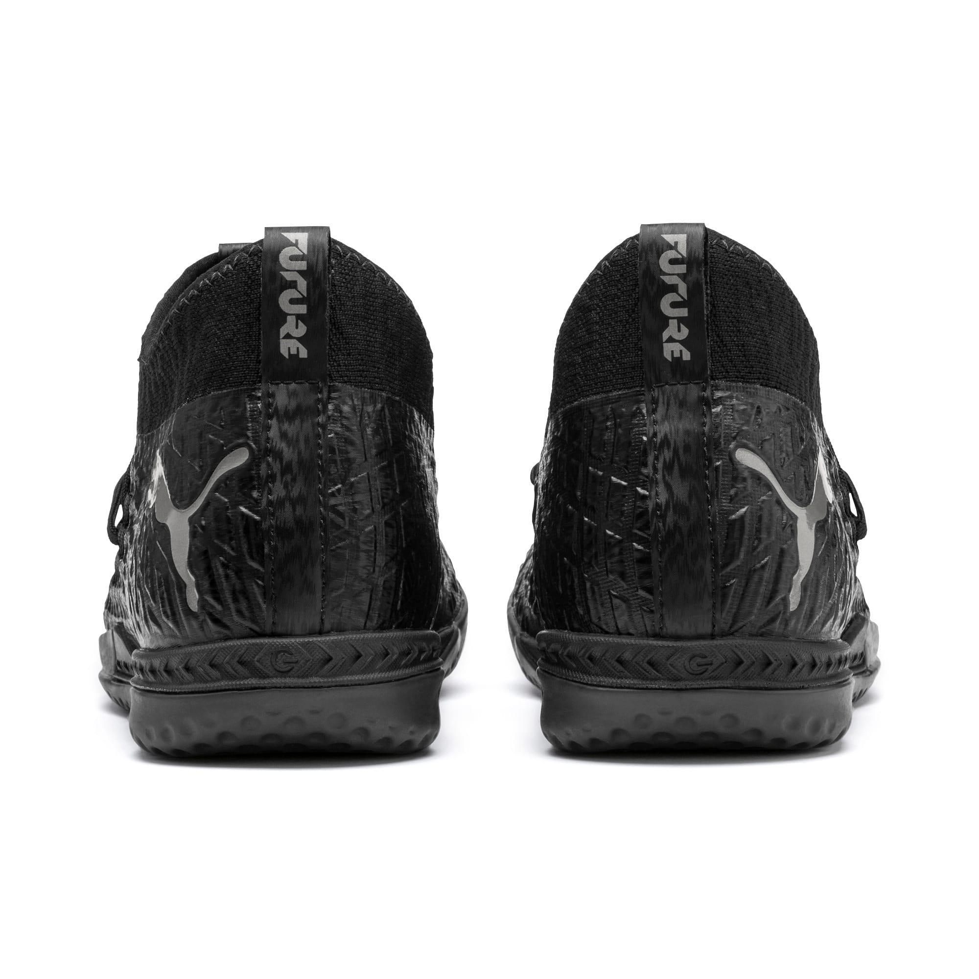 Thumbnail 4 of FUTURE 4.3 NETFIT IT Men's Soccer Shoes, Black-Black-Puma Aged Silver, medium