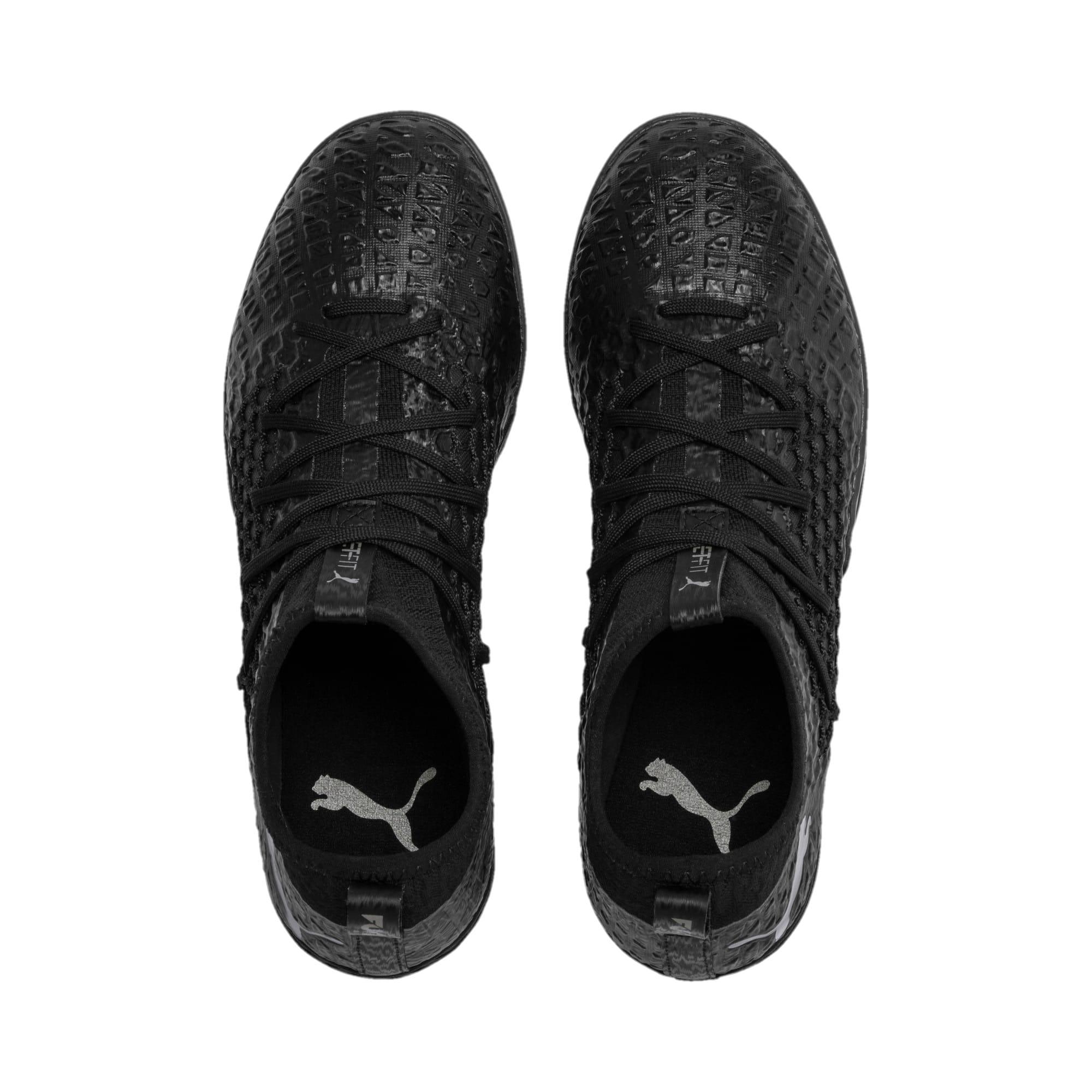Thumbnail 7 of FUTURE 4.3 NETFIT IT Men's Soccer Shoes, Black-Black-Puma Aged Silver, medium