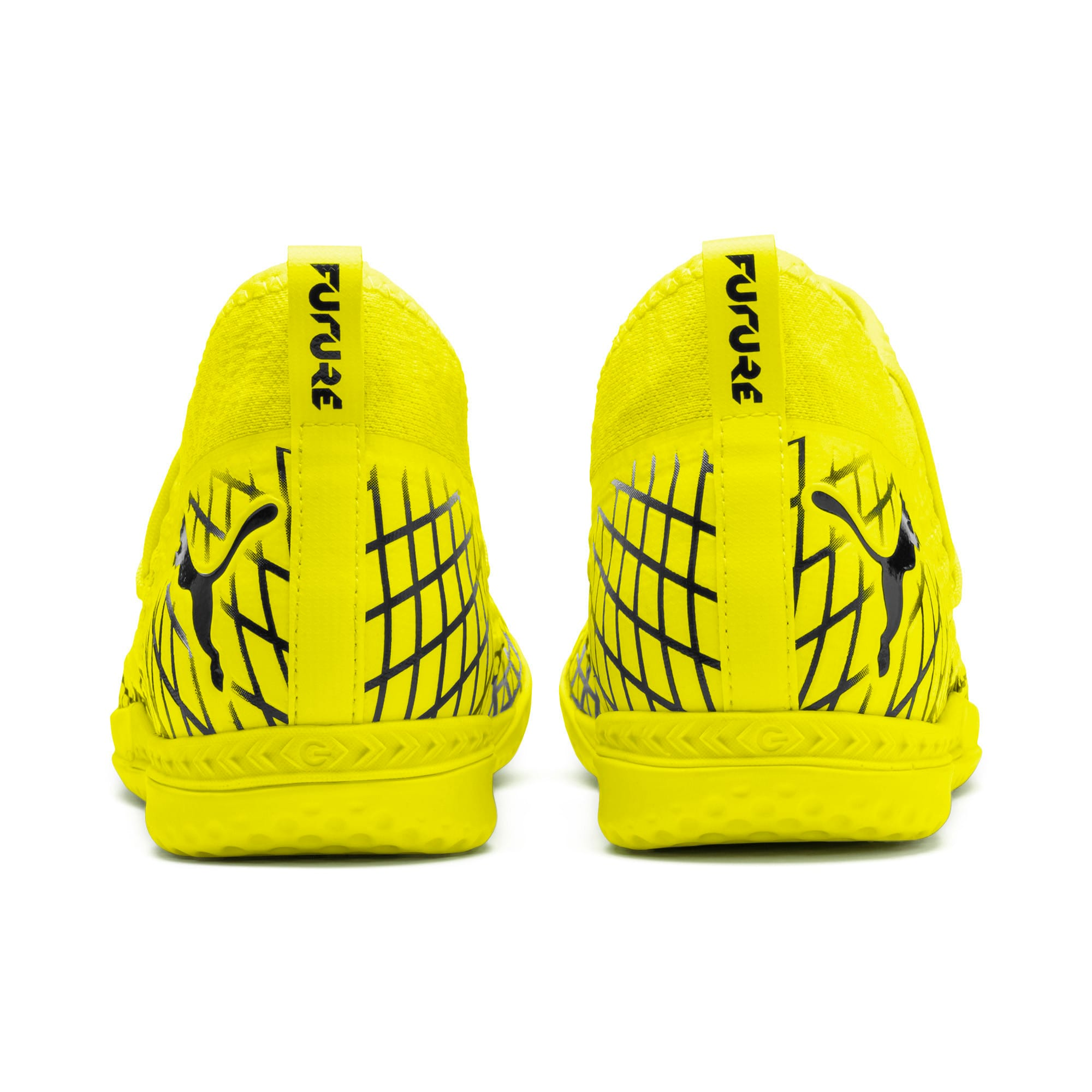 Thumbnail 4 of FUTURE 4.3 NETFIT IT Men's Football Boots, Yellow Alert-Puma Black, medium