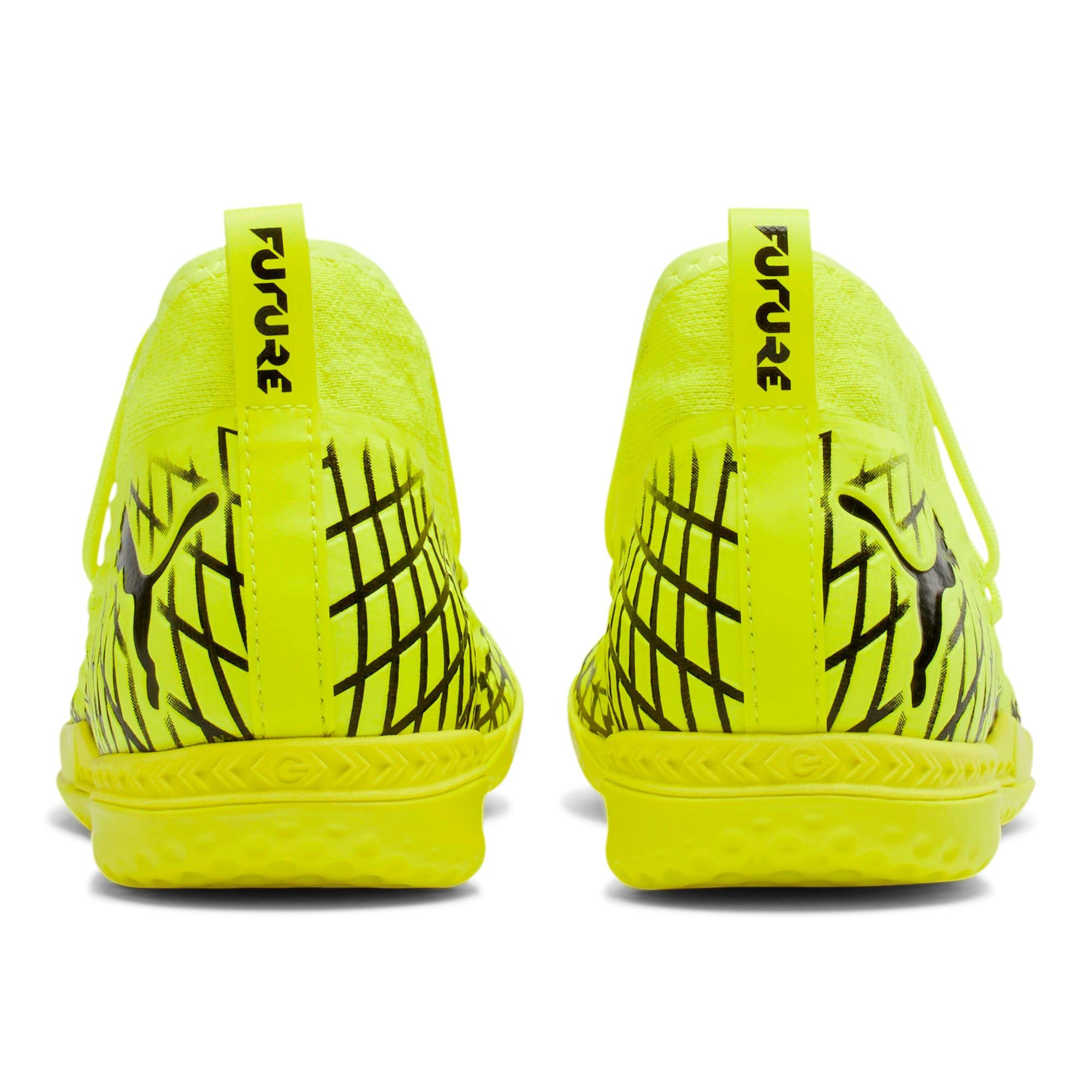 Thumbnail 4 of FUTURE 4.3 NETFIT IT Men's Soccer Shoes, Yellow Alert-Puma Black, medium