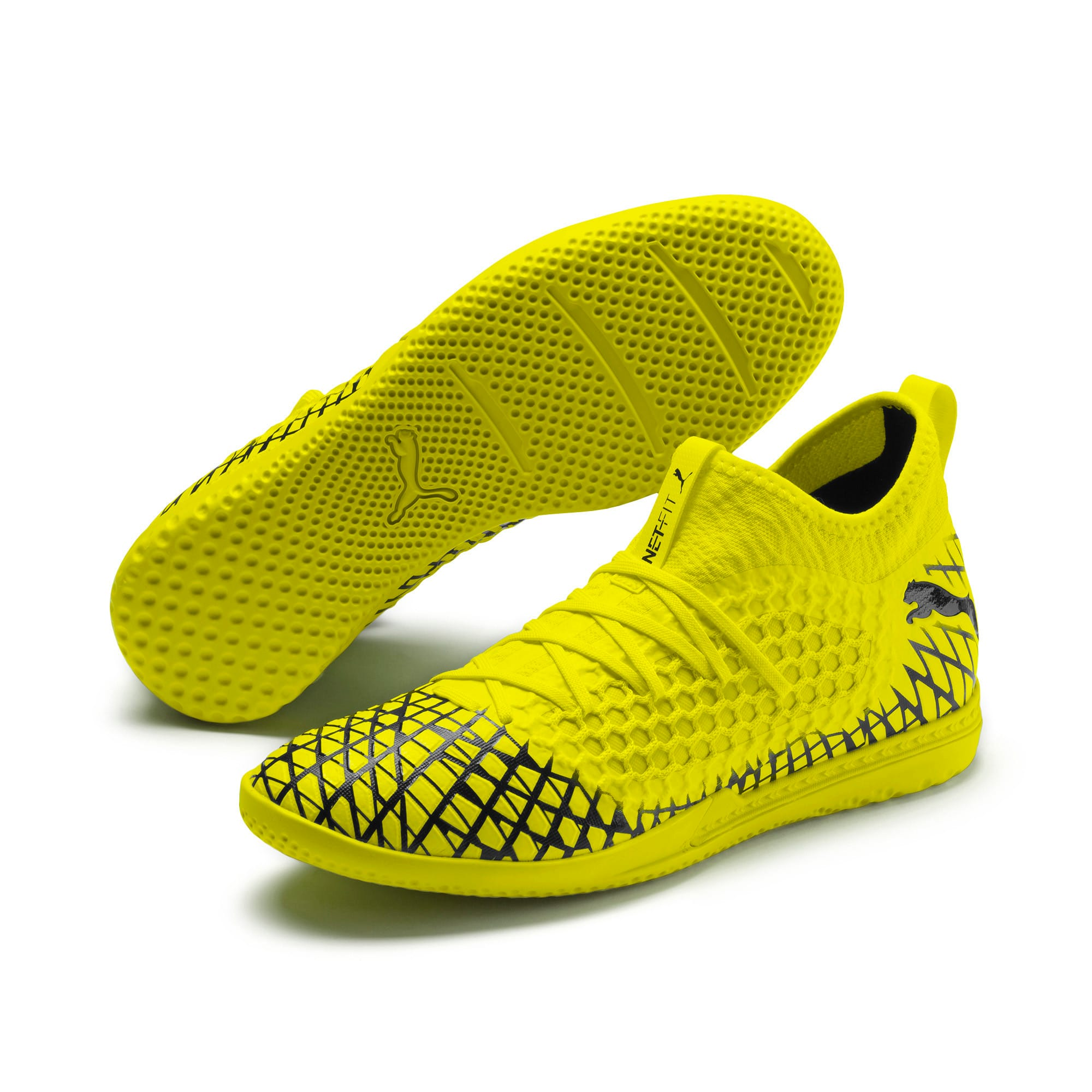 Thumbnail 3 of FUTURE 4.3 NETFIT IT Men's Football Boots, Yellow Alert-Puma Black, medium