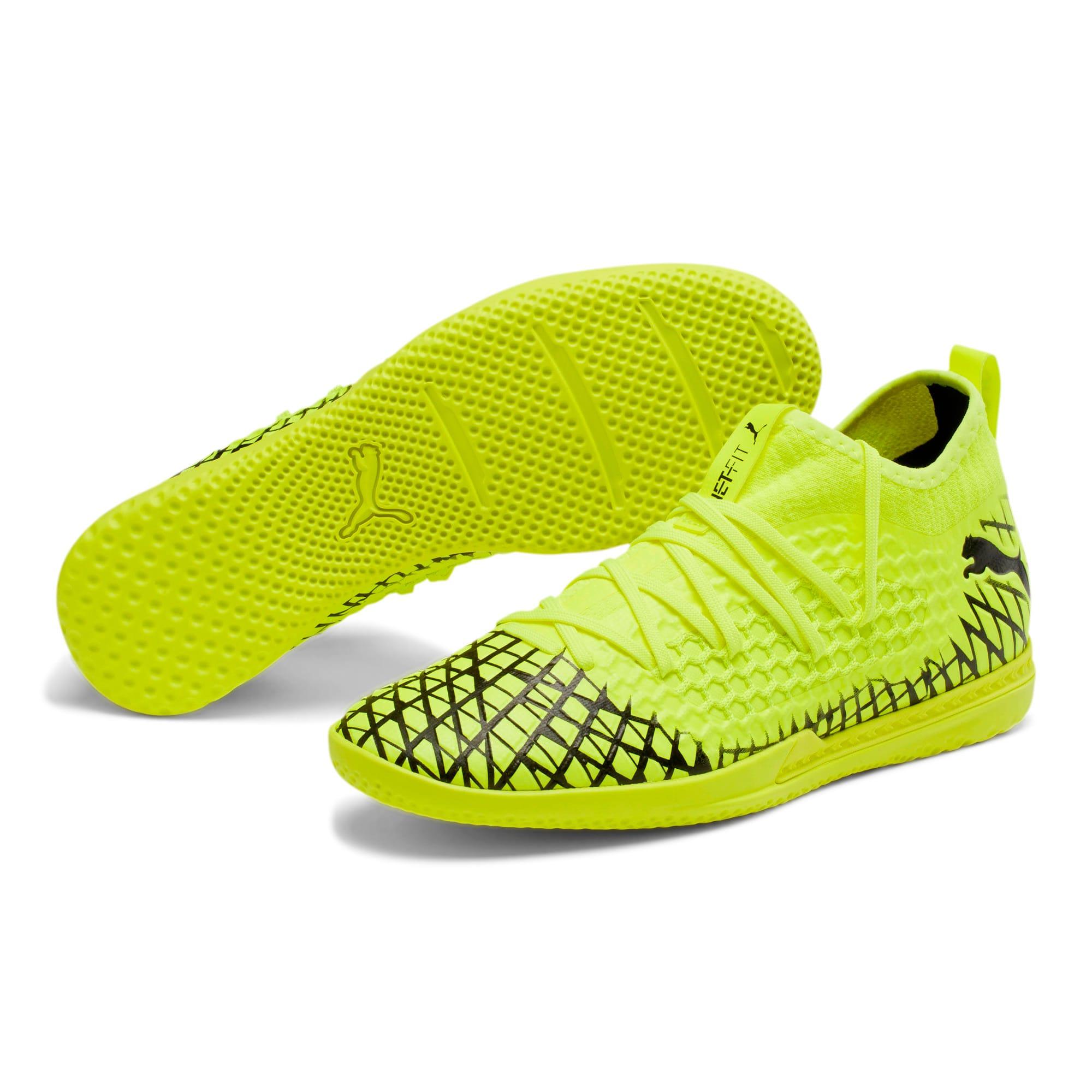 Thumbnail 3 of FUTURE 4.3 NETFIT IT Men's Soccer Shoes, Yellow Alert-Puma Black, medium