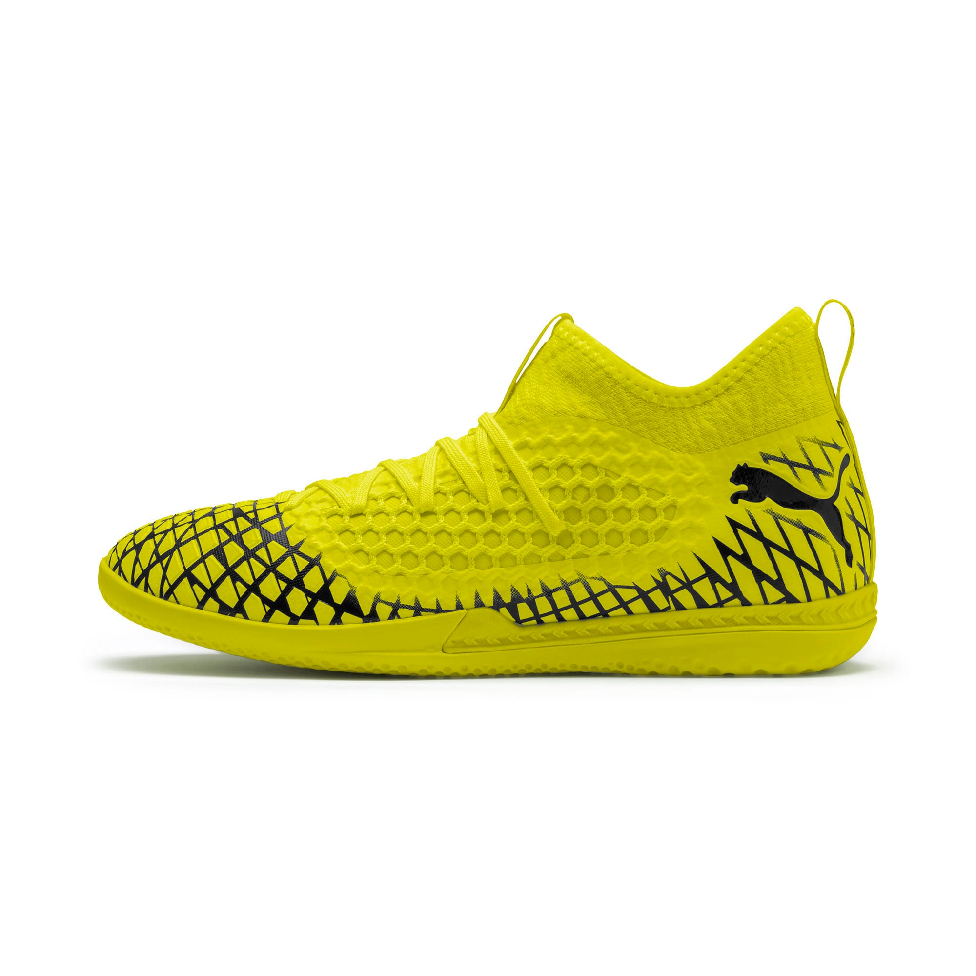 Thumbnail 1 of FUTURE 4.3 NETFIT IT Men's Football Boots, Yellow Alert-Puma Black, medium