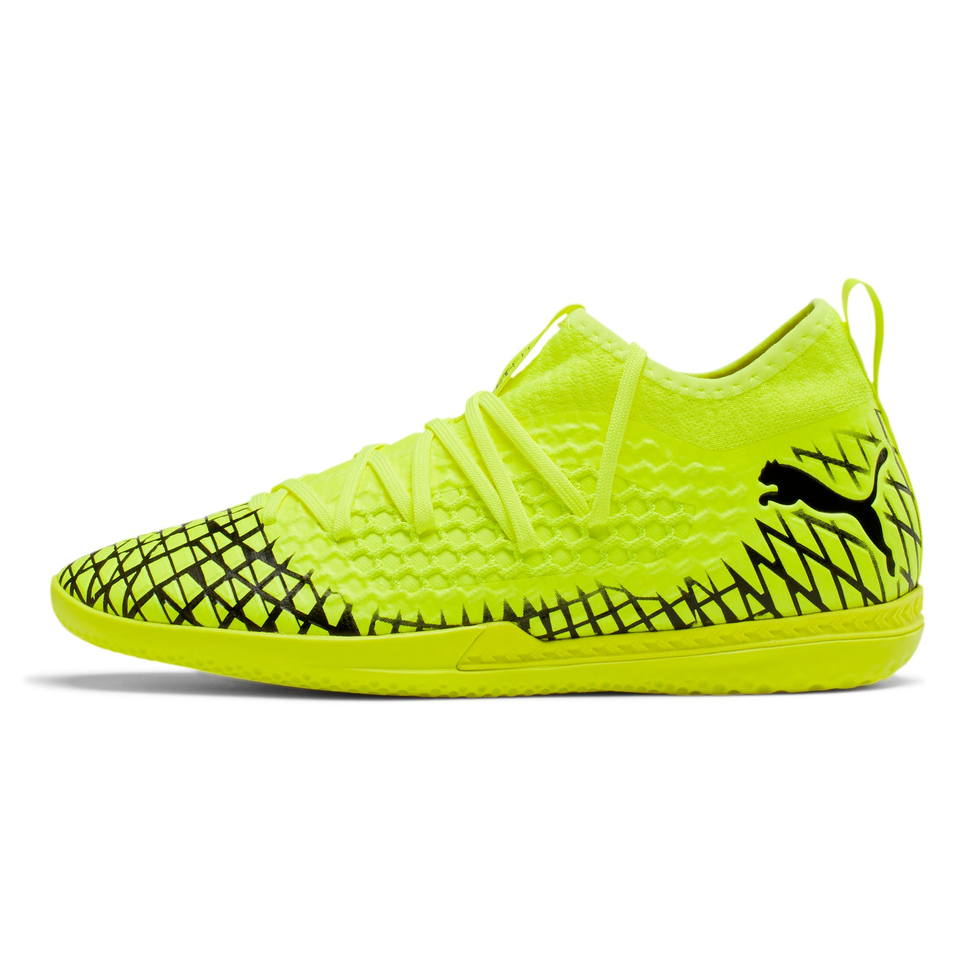 Thumbnail 1 of FUTURE 4.3 NETFIT IT Men's Soccer Shoes, Yellow Alert-Puma Black, medium
