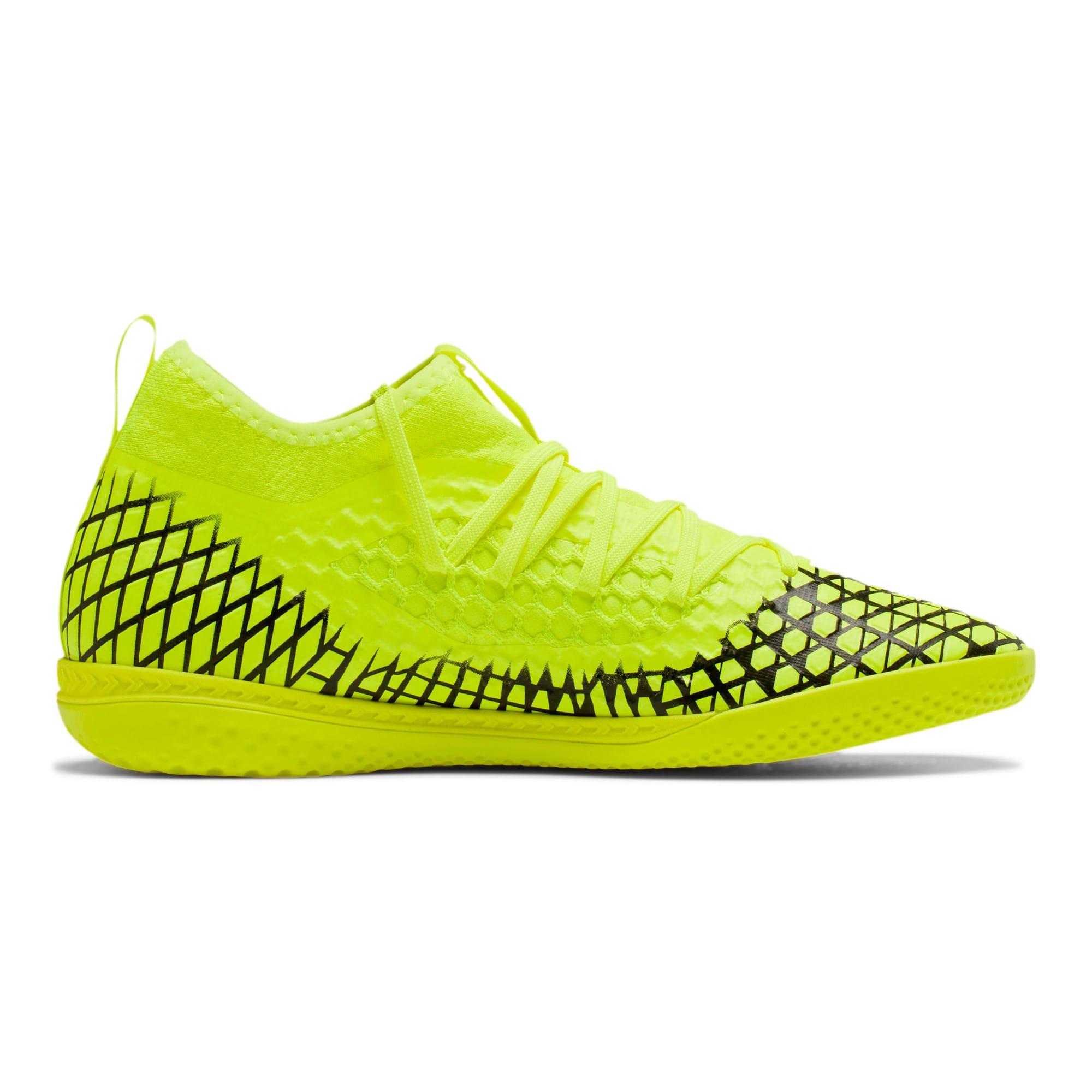 Thumbnail 6 of FUTURE 4.3 NETFIT IT Men's Soccer Shoes, Yellow Alert-Puma Black, medium