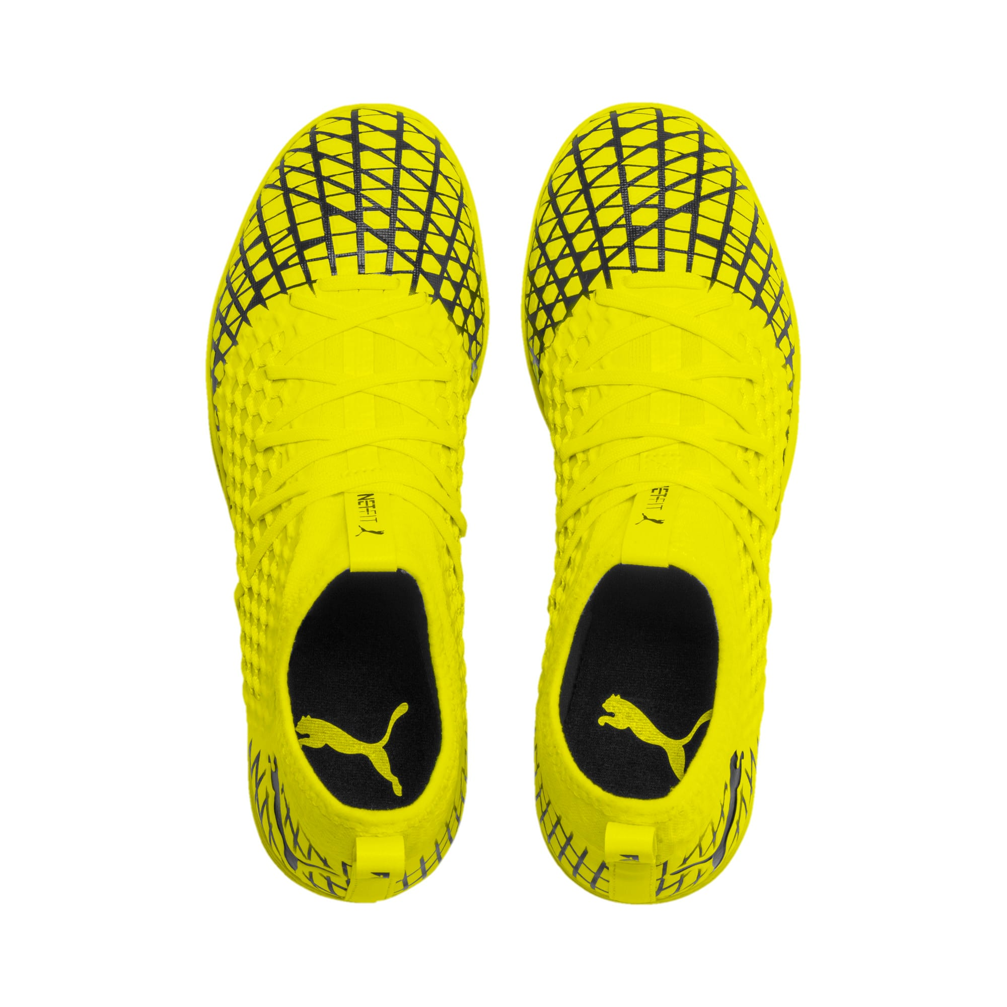 Thumbnail 7 of FUTURE 4.3 NETFIT IT Men's Football Boots, Yellow Alert-Puma Black, medium