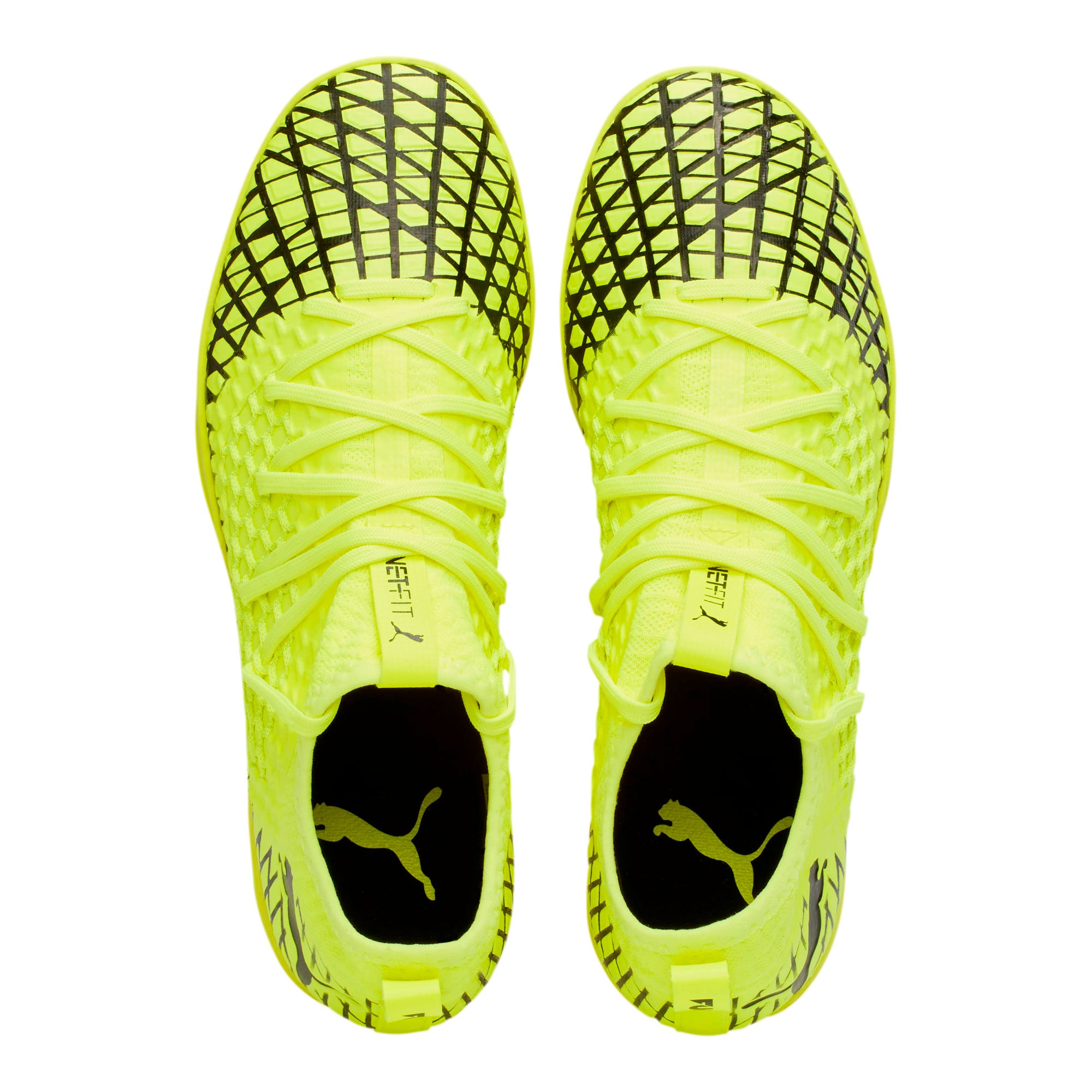 Thumbnail 7 of FUTURE 4.3 NETFIT IT Men's Soccer Shoes, Yellow Alert-Puma Black, medium