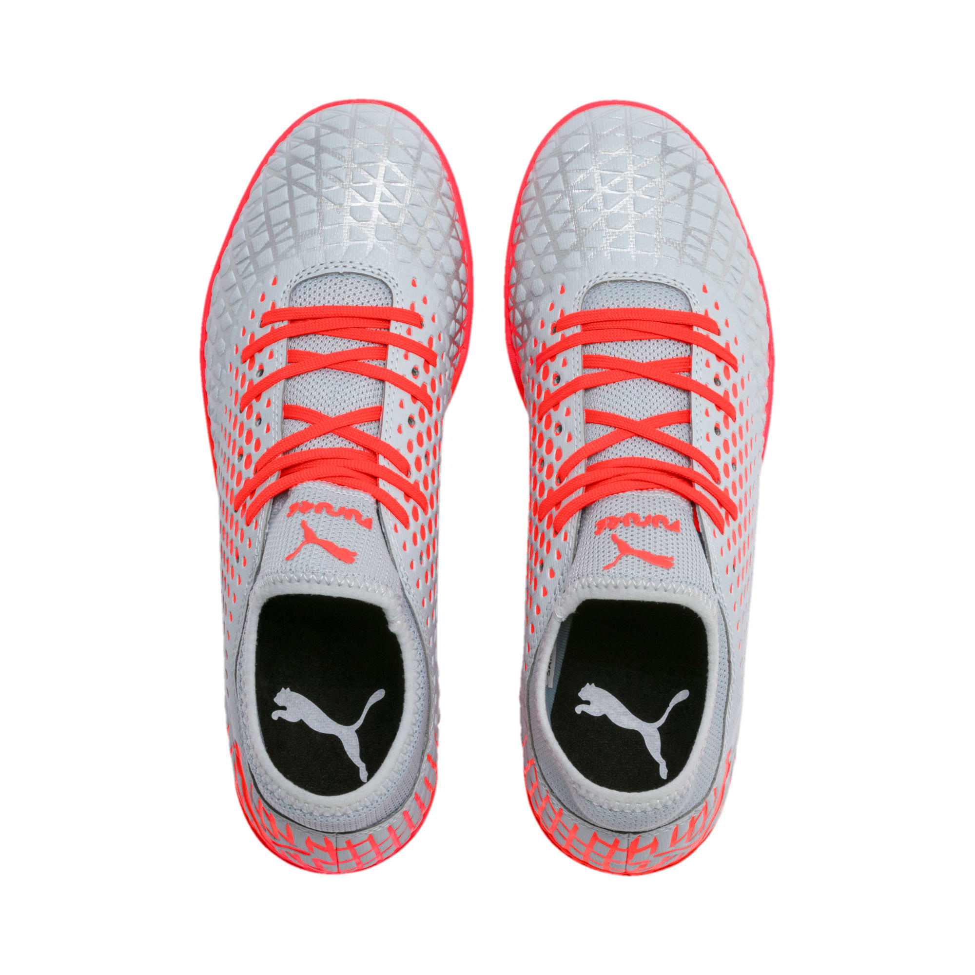Thumbnail 7 of FUTURE 4.4 TT Men's Soccer Shoes, Glacial Blue-Nrgy Red, medium