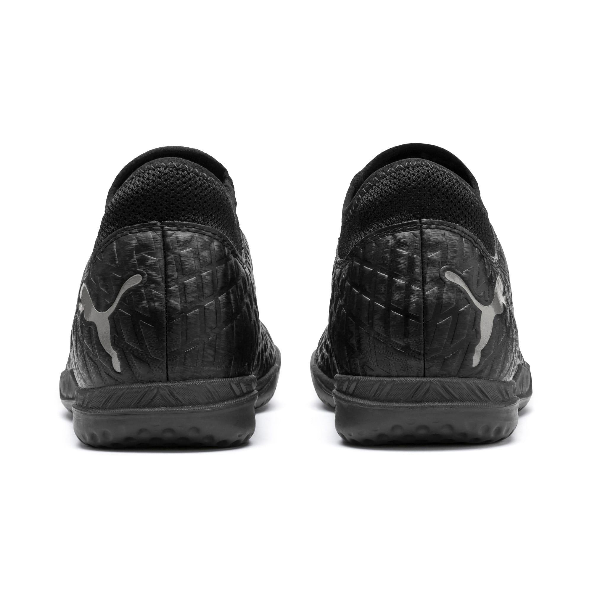 Thumbnail 4 of FUTURE 4.4 TT Men's Soccer Shoes, Black-Black-Puma Aged Silver, medium
