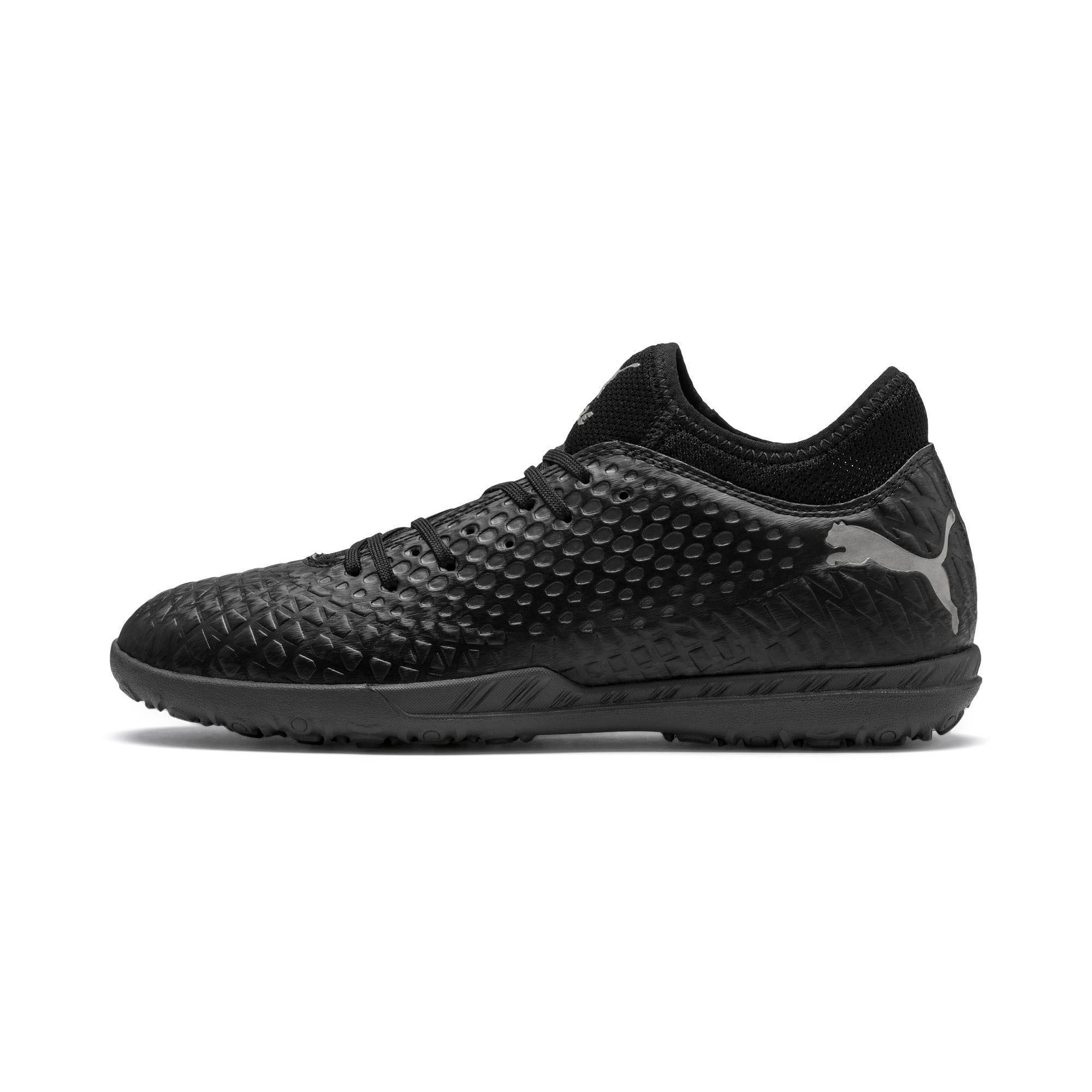 Thumbnail 1 of FUTURE 4.4 TT Men's Soccer Shoes, Black-Black-Puma Aged Silver, medium