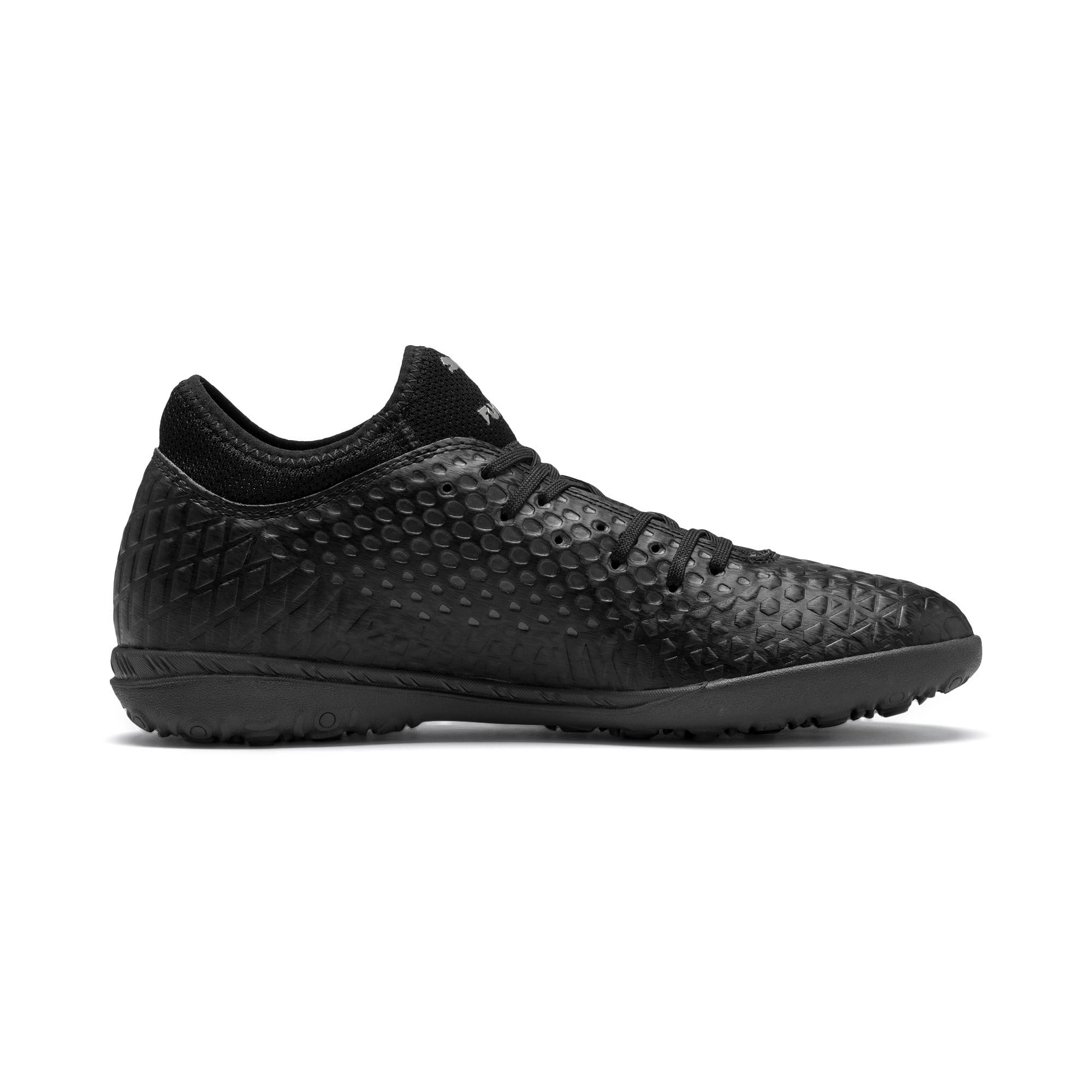 Thumbnail 6 of FUTURE 4.4 TT Men's Soccer Shoes, Black-Black-Puma Aged Silver, medium