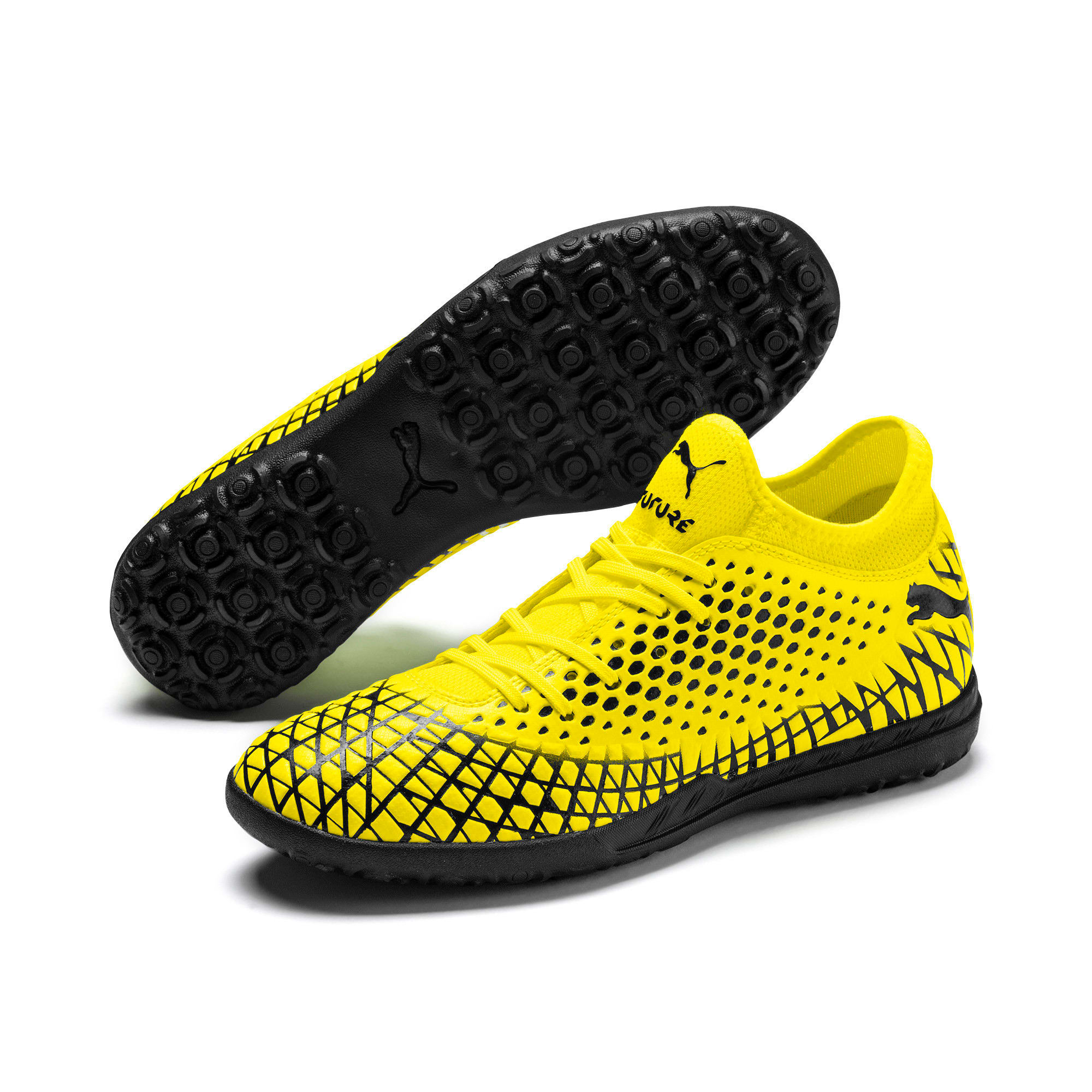 Thumbnail 3 of FUTURE 4.4 TT Men's Football Boots, Yellow Alert-Puma Black, medium