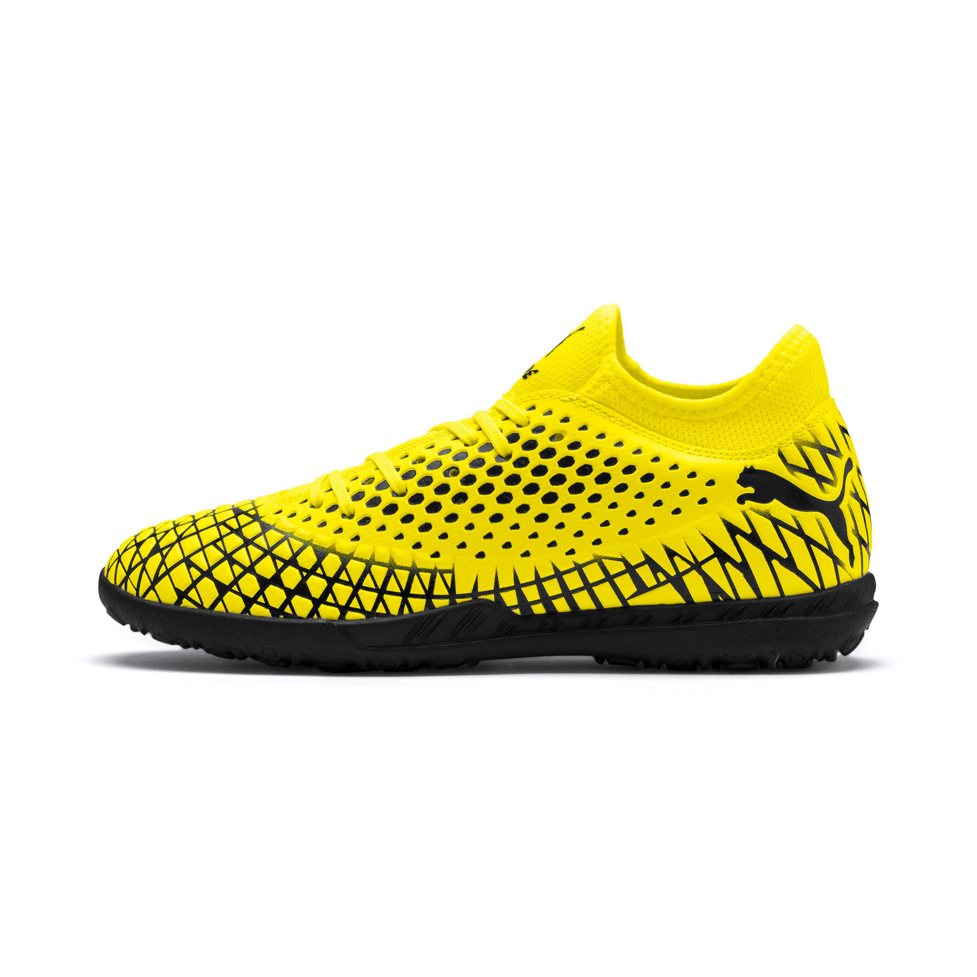 Thumbnail 1 of FUTURE 4.4 TT Men's Football Boots, Yellow Alert-Puma Black, medium