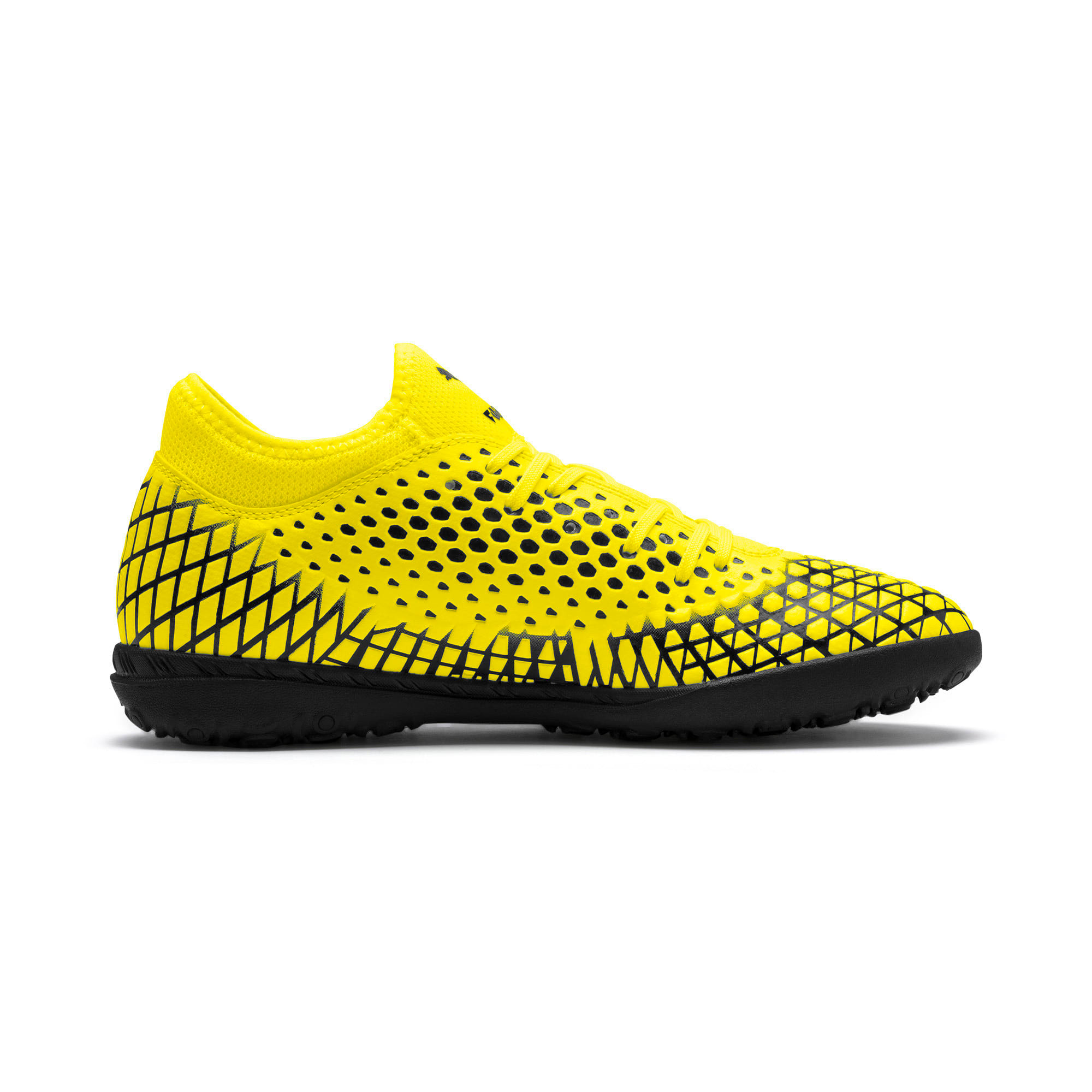 Thumbnail 6 of FUTURE 4.4 TT Men's Football Boots, Yellow Alert-Puma Black, medium