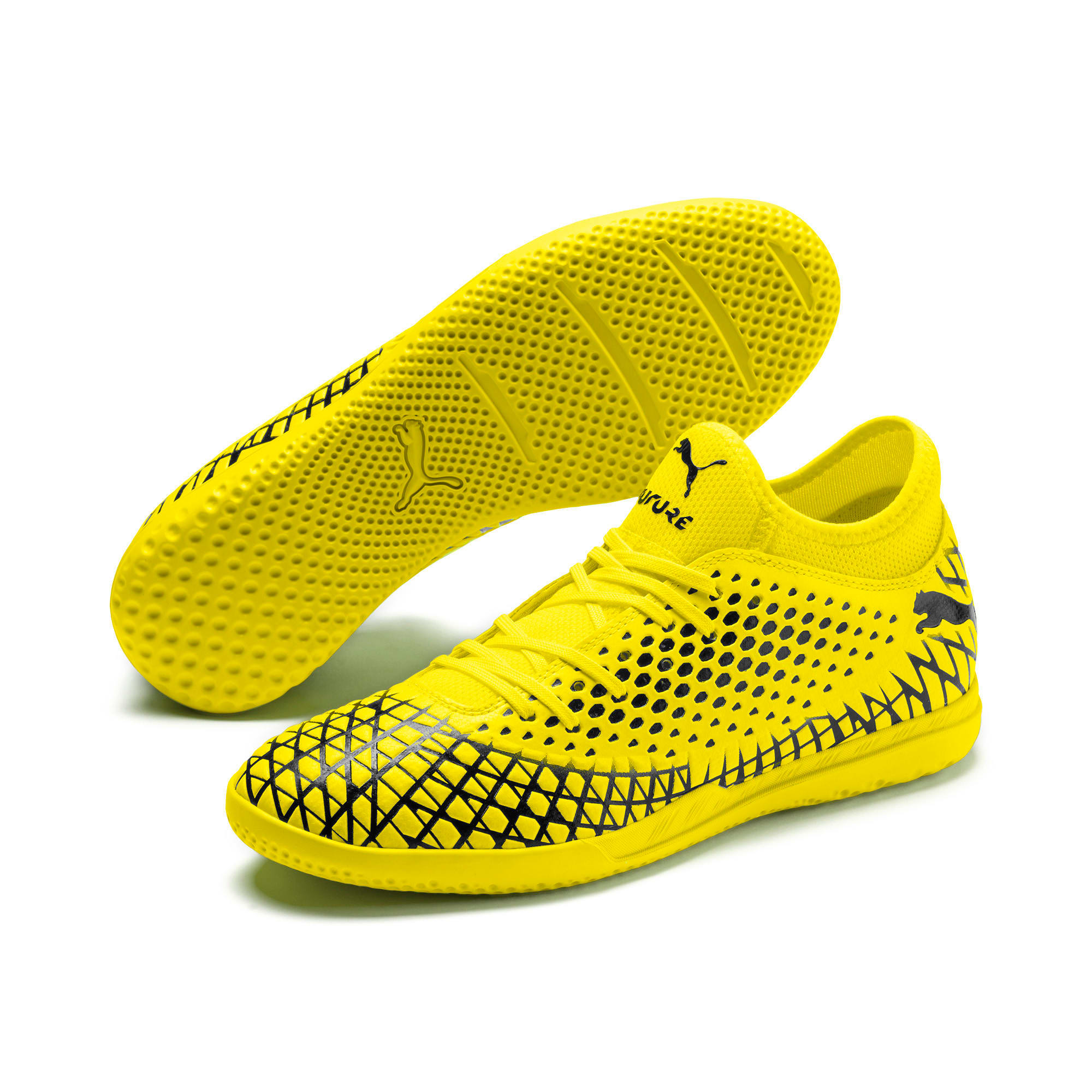 Thumbnail 3 of FUTURE 4.4 IT Men's Football Boots, Yellow Alert-Puma Black, medium