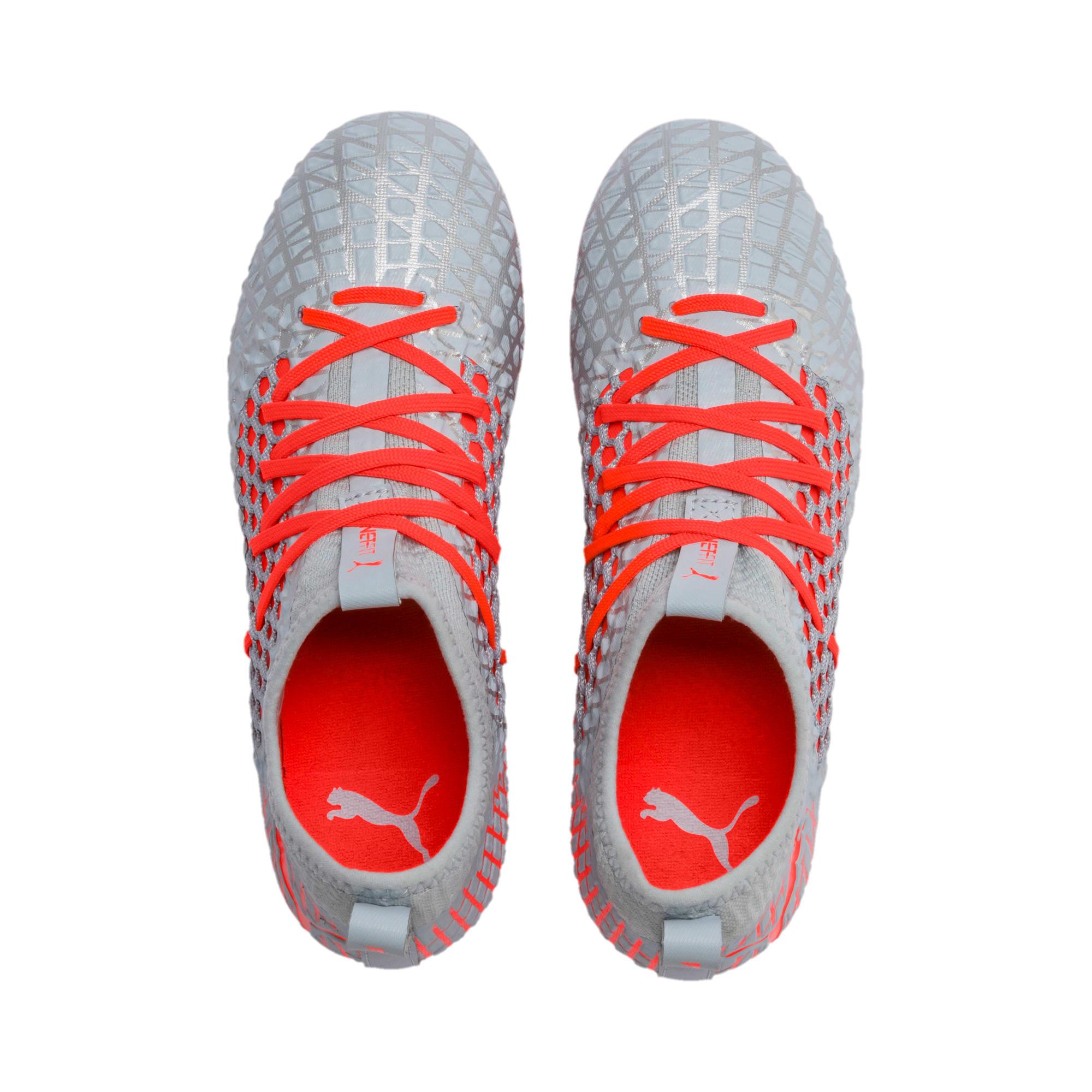 Thumbnail 6 of FUTURE 4.3 NETFIT FG/AG Soccer Cleats JR, Glacial Blue-Nrgy Red, medium