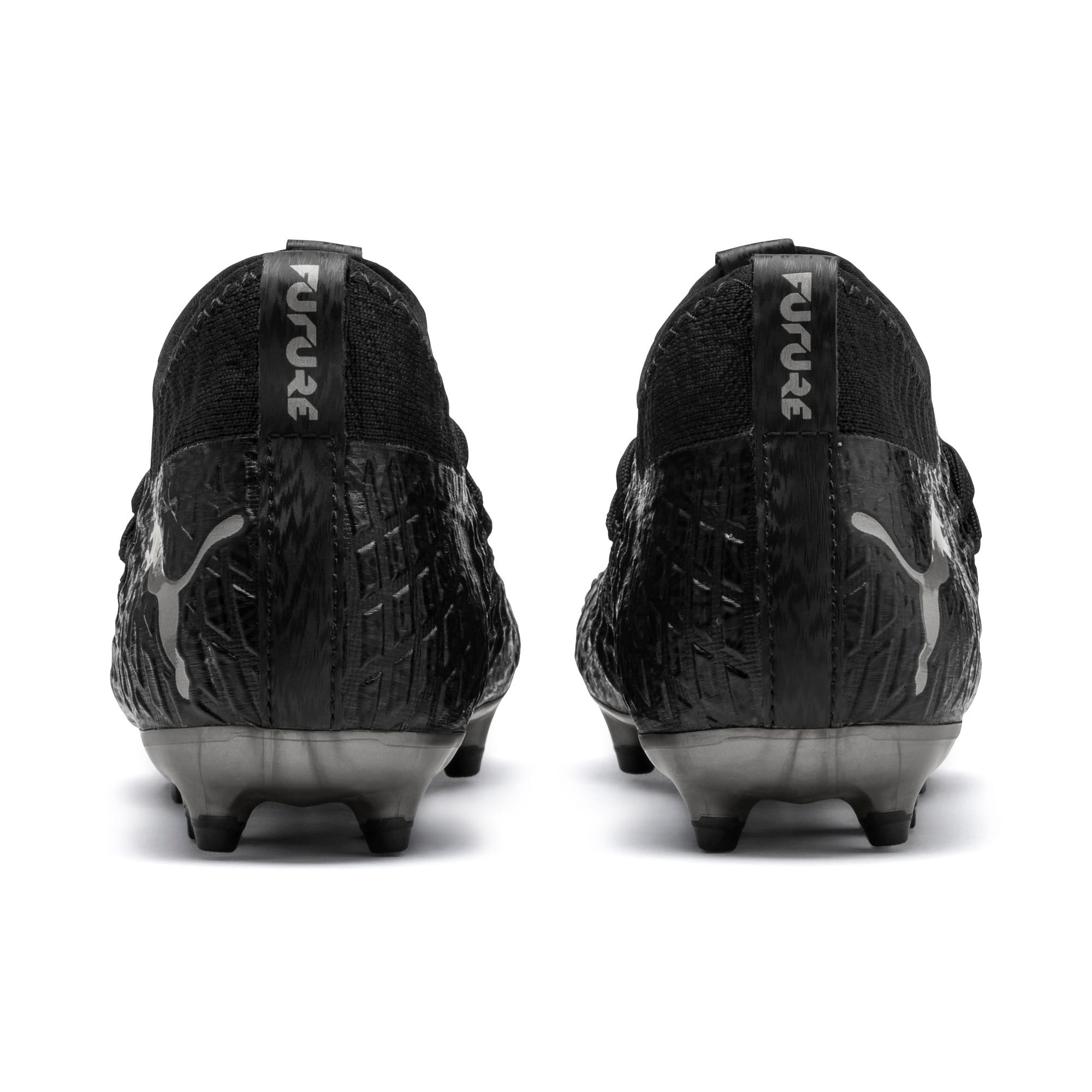 Thumbnail 3 of FUTURE 4.3 NETFIT Youth FG/AG Football Boots, Black-Black-Puma Aged Silver, medium