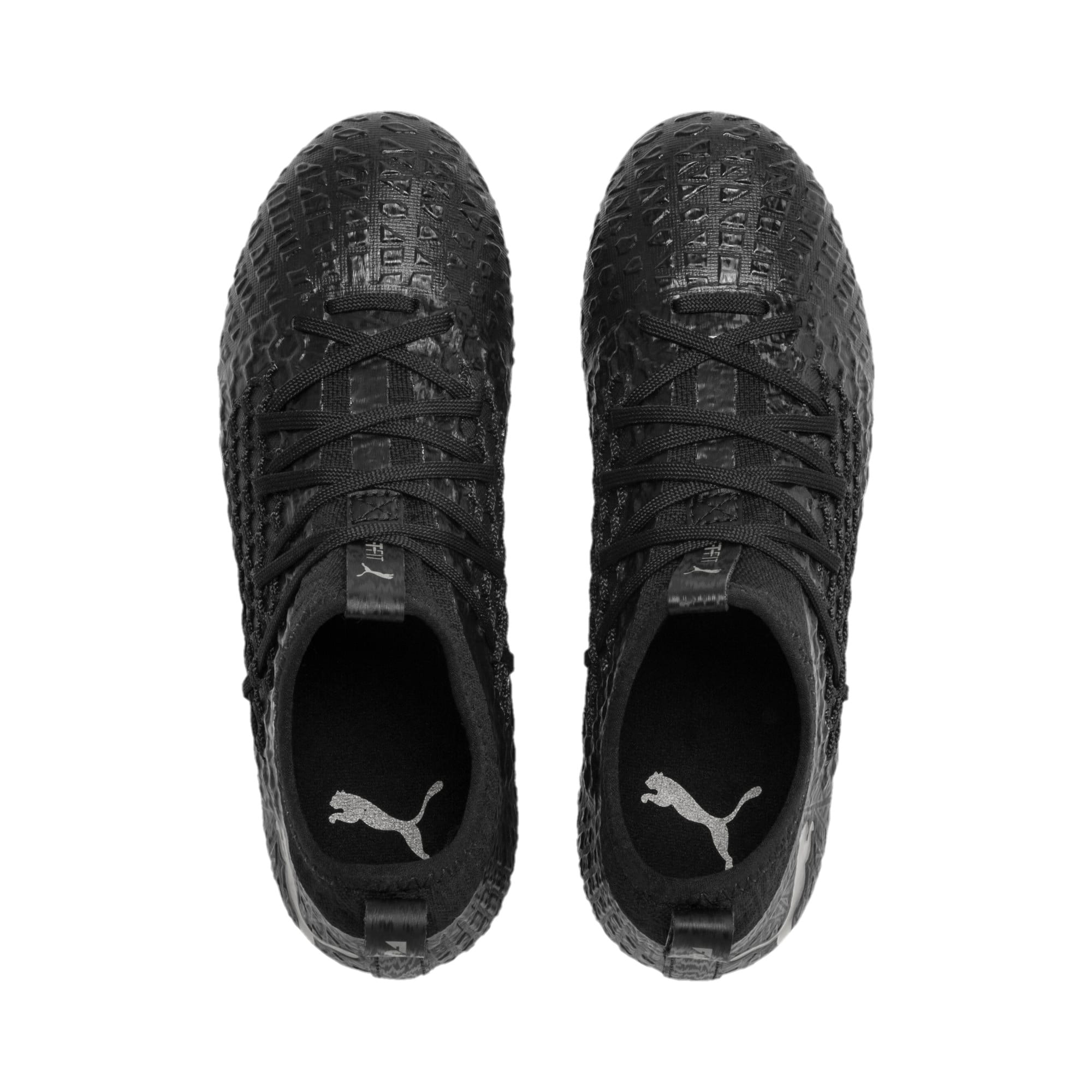 Thumbnail 6 of FUTURE 4.3 NETFIT Youth FG/AG Football Boots, Black-Black-Puma Aged Silver, medium