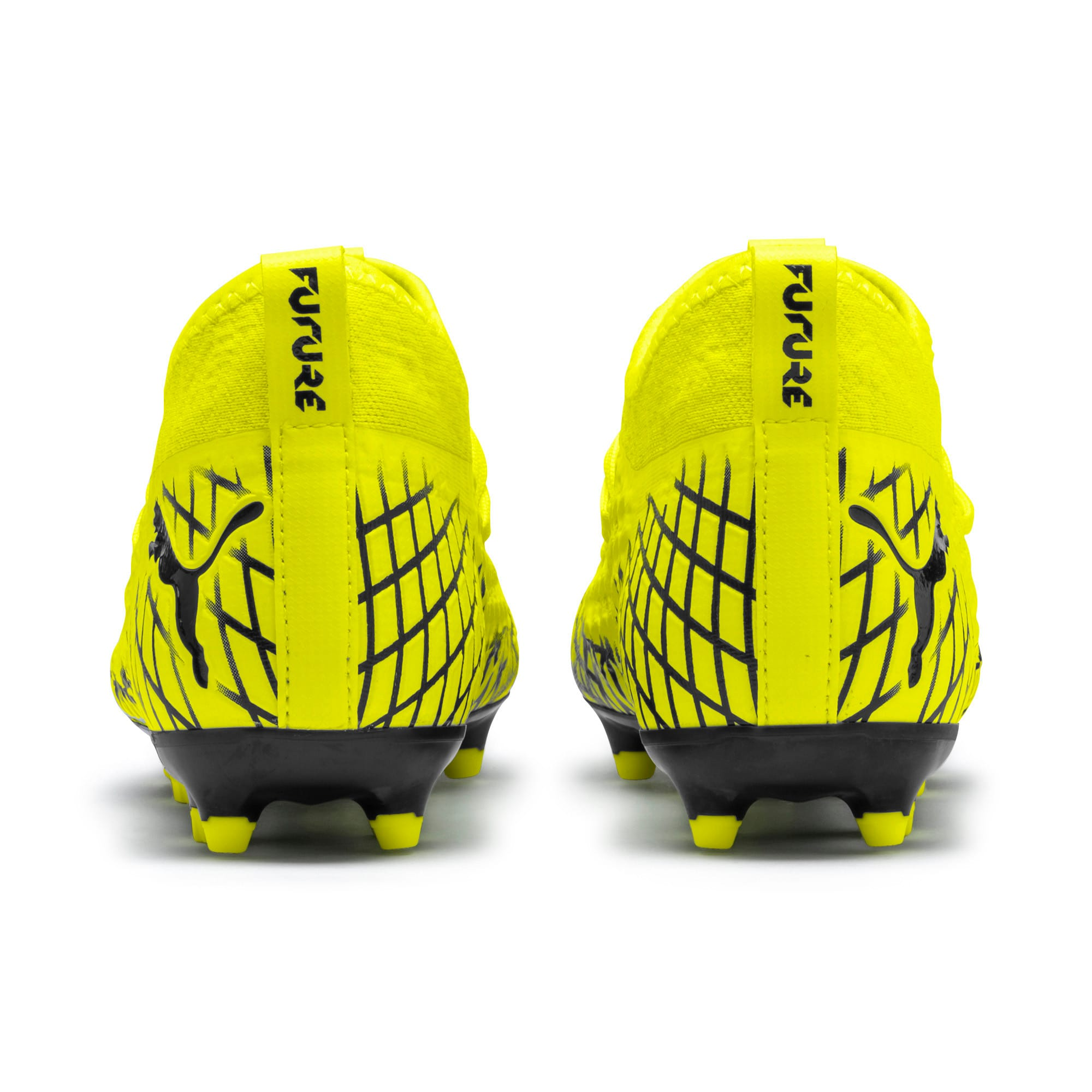 Thumbnail 3 of FUTURE 4.3 NETFIT Youth FG/AG Football Boots, Yellow Alert-Puma Black, medium