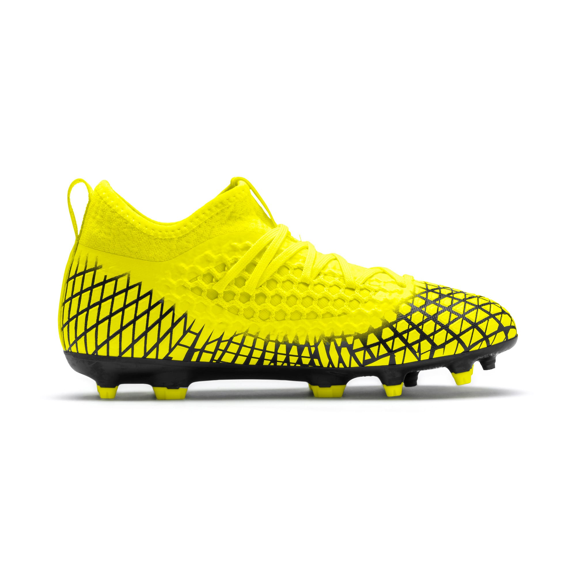 Thumbnail 5 of FUTURE 4.3 NETFIT Youth FG/AG Football Boots, Yellow Alert-Puma Black, medium
