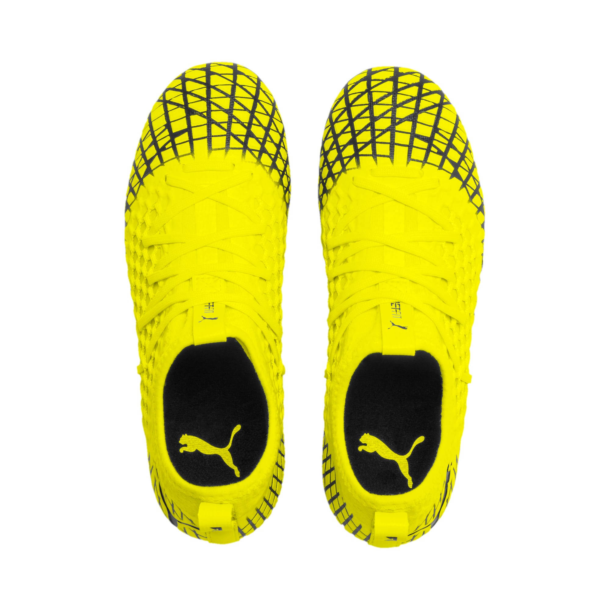 Thumbnail 6 of FUTURE 4.3 NETFIT Youth FG/AG Football Boots, Yellow Alert-Puma Black, medium