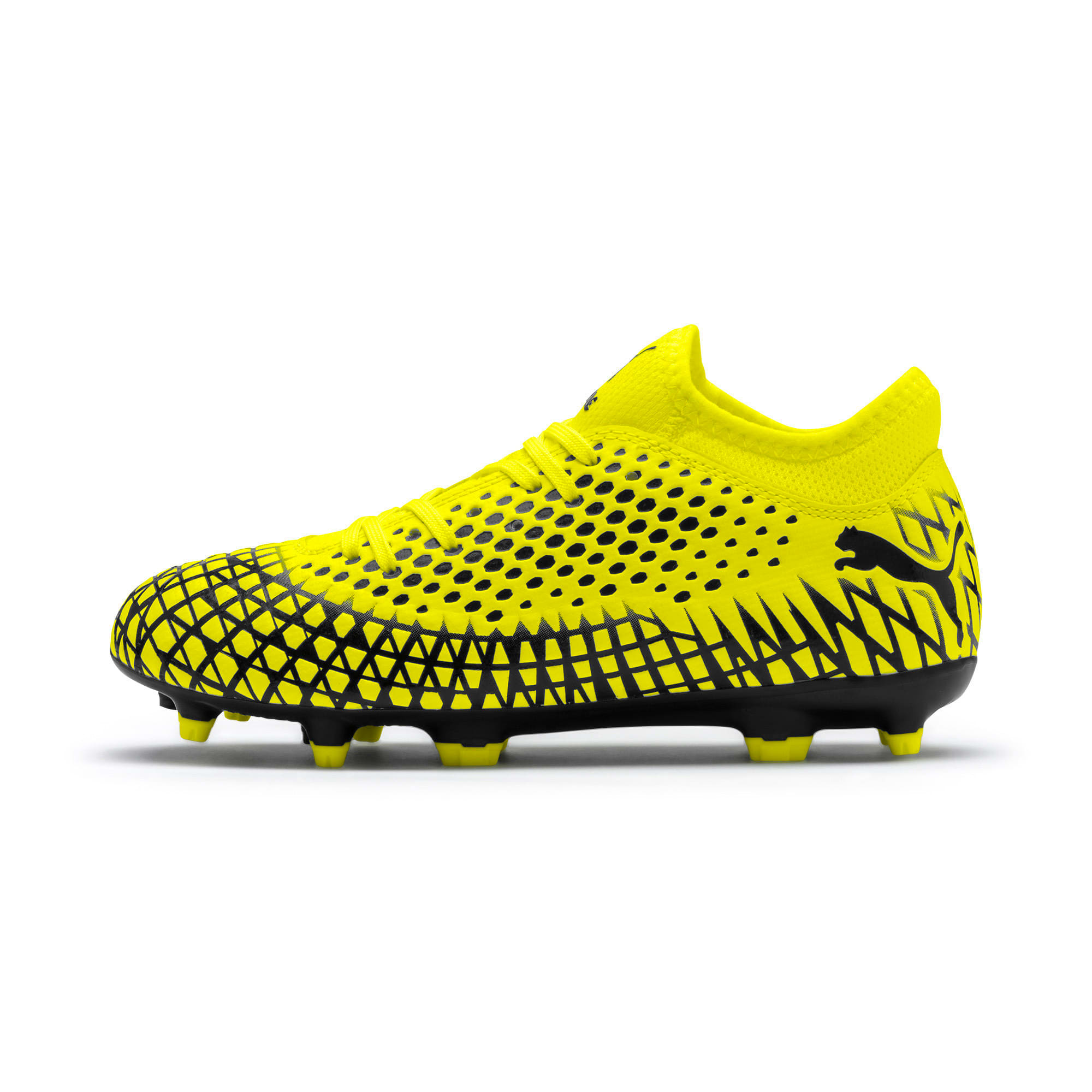 Thumbnail 1 of FUTURE 4.4 Youth Football Boots, Yellow Alert-Puma Black, medium