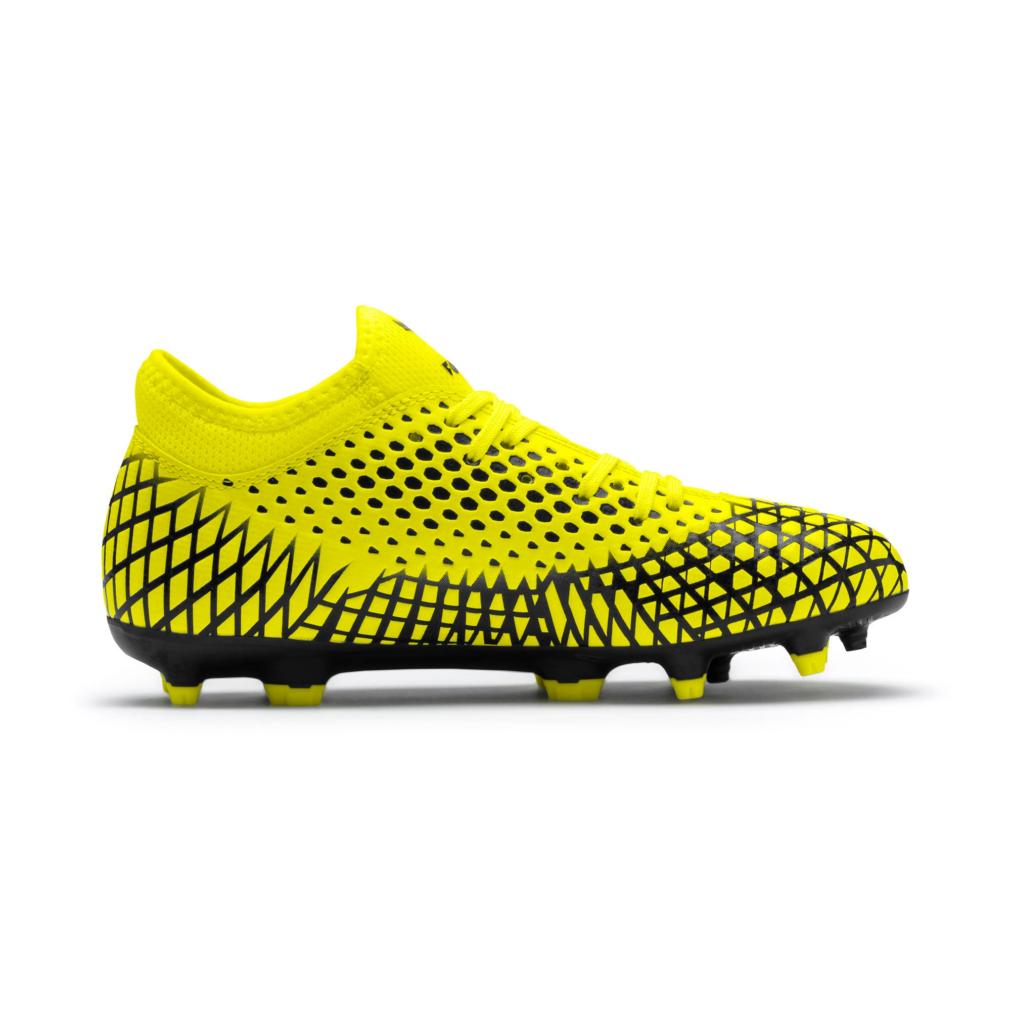 Thumbnail 5 of FUTURE 4.4 Youth Football Boots, Yellow Alert-Puma Black, medium