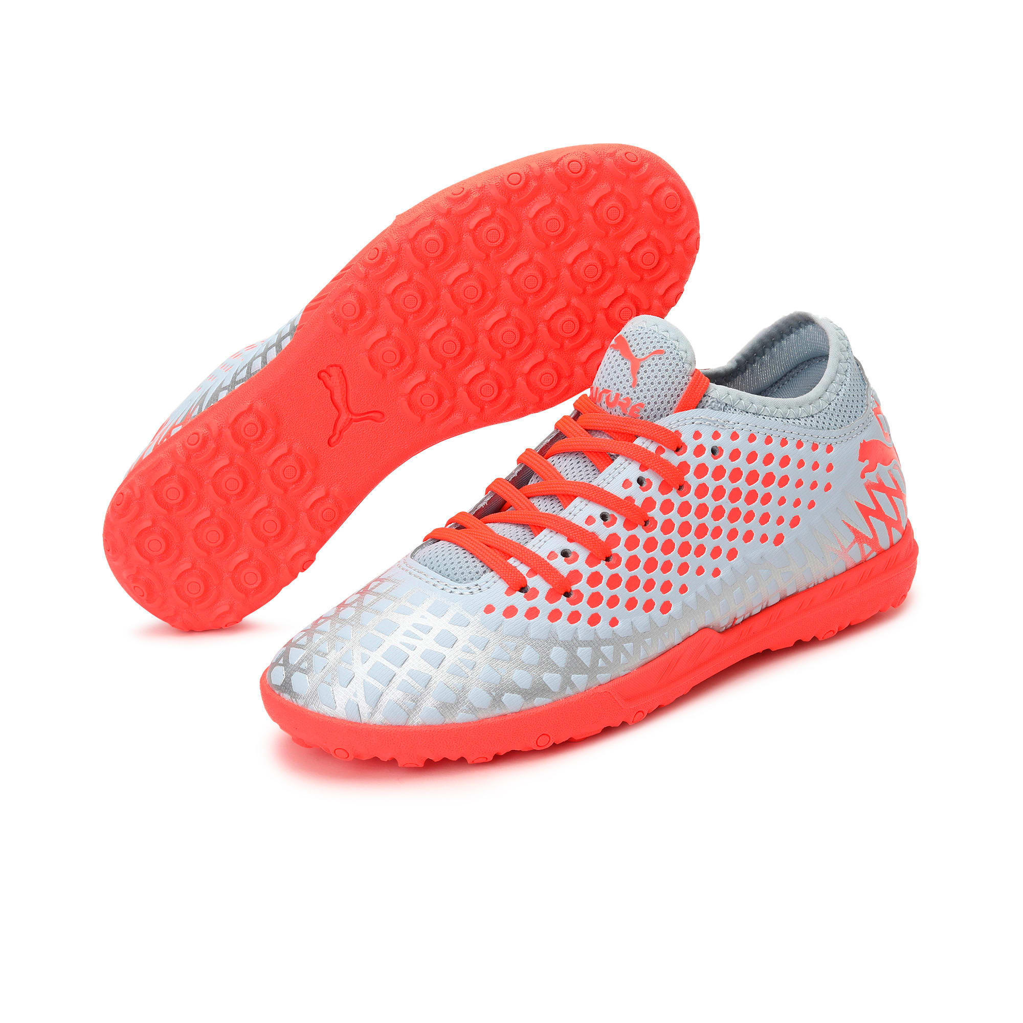 Thumbnail 2 of FUTURE 4.4 TT Youth Football Boots, Glacial Blue-Nrgy Red, medium-IND