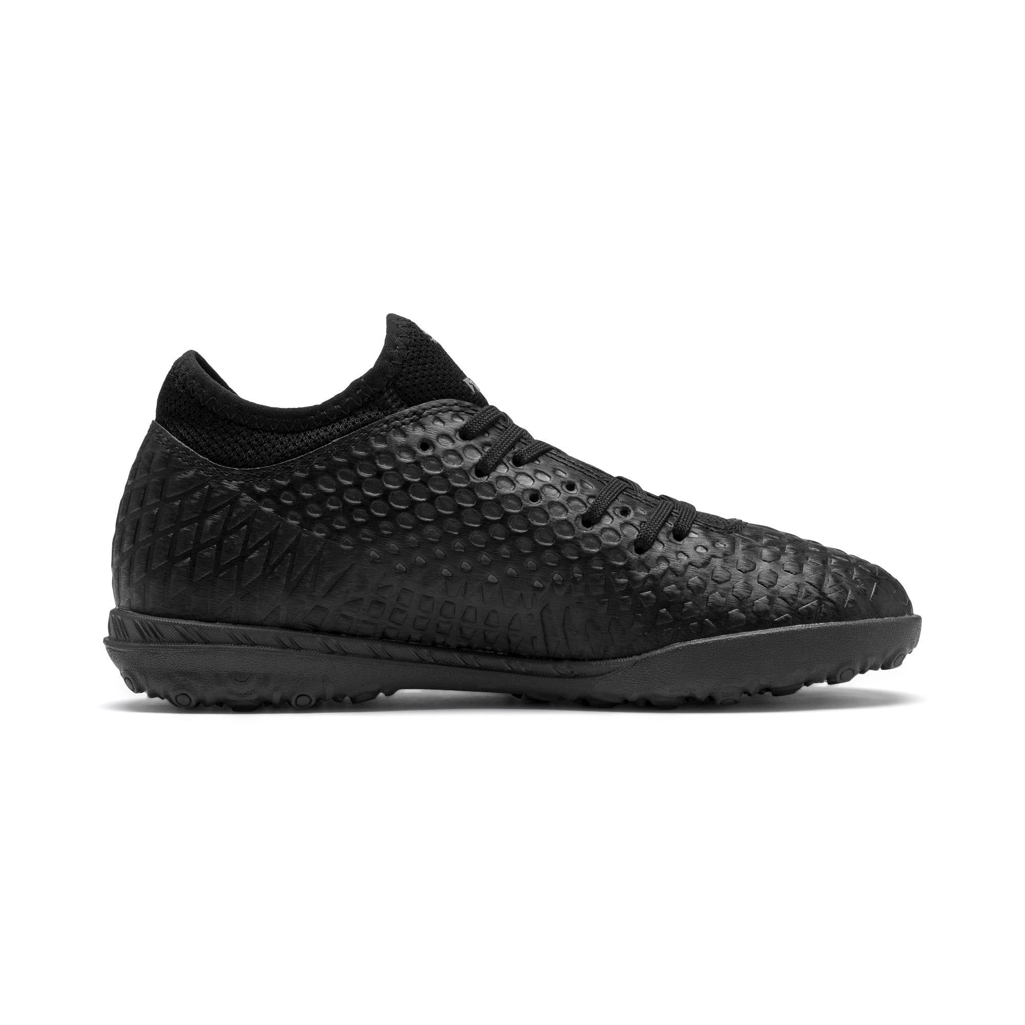 Thumbnail 5 of Chaussure de foot FUTURE 4.4 TT Youth, Black-Black-Puma Aged Silver, medium