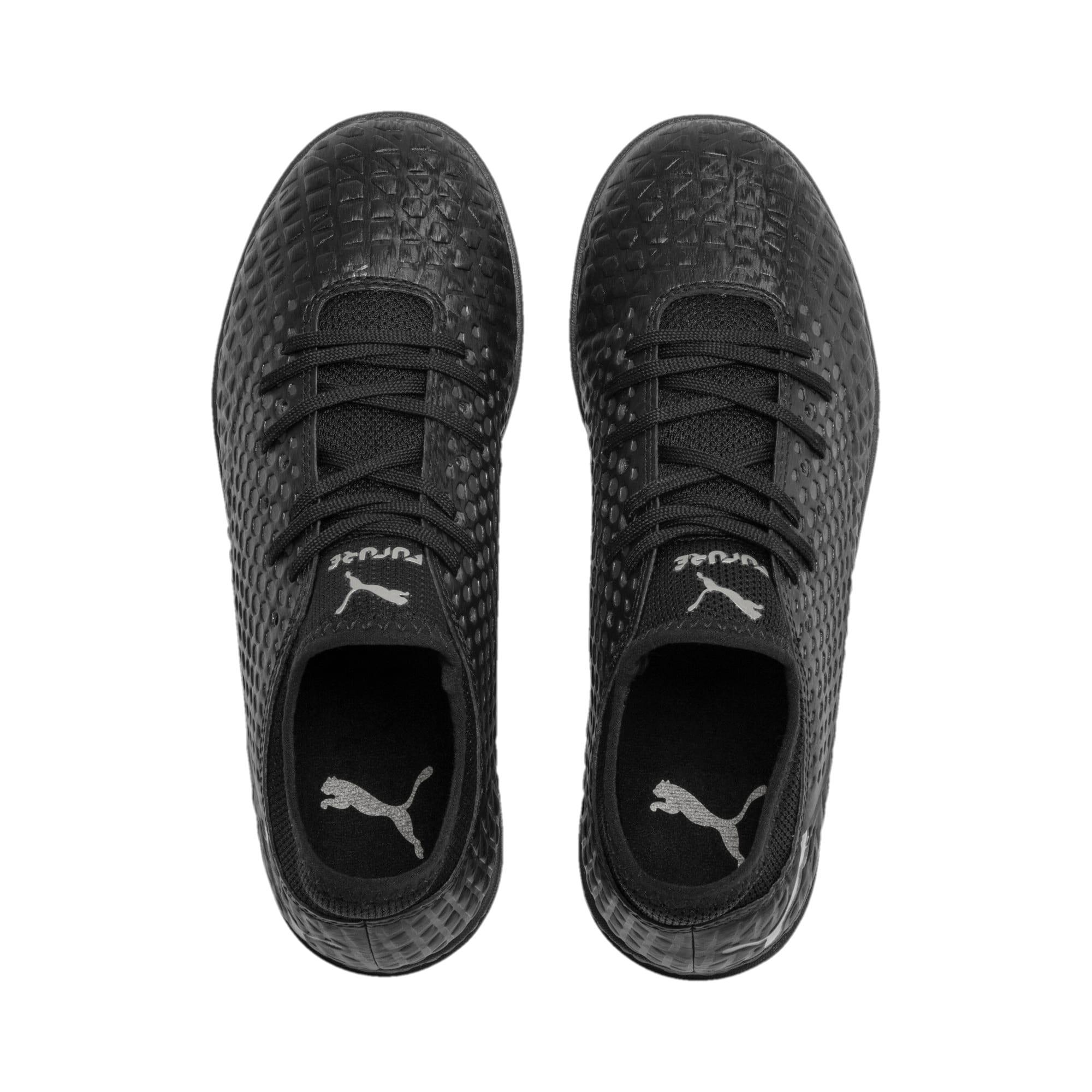 Thumbnail 6 of FUTURE 4.4 TT Youth Football Boots, Black-Black-Puma Aged Silver, medium