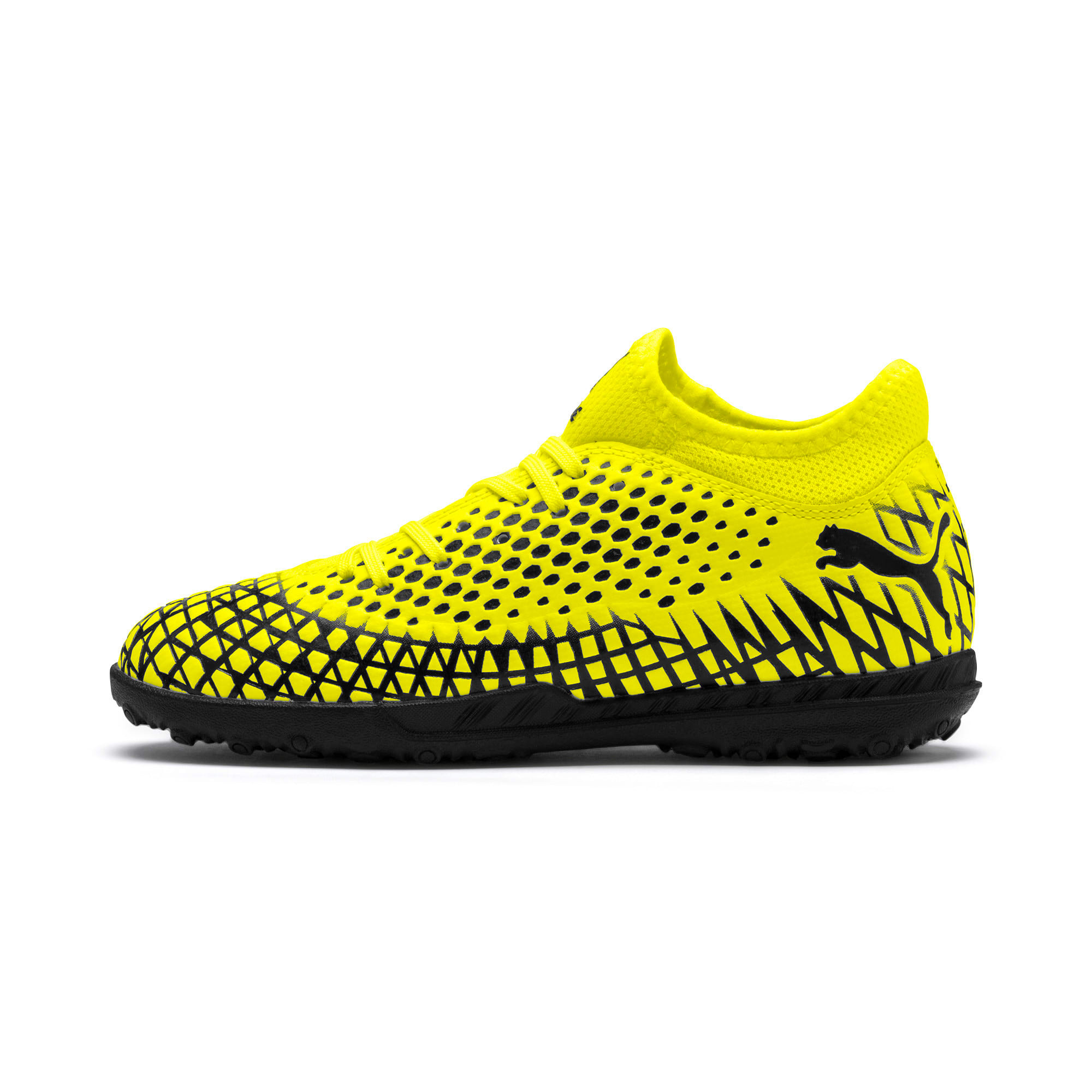 Thumbnail 1 of FUTURE 4.4 TT Youth Football Boots, Yellow Alert-Puma Black, medium