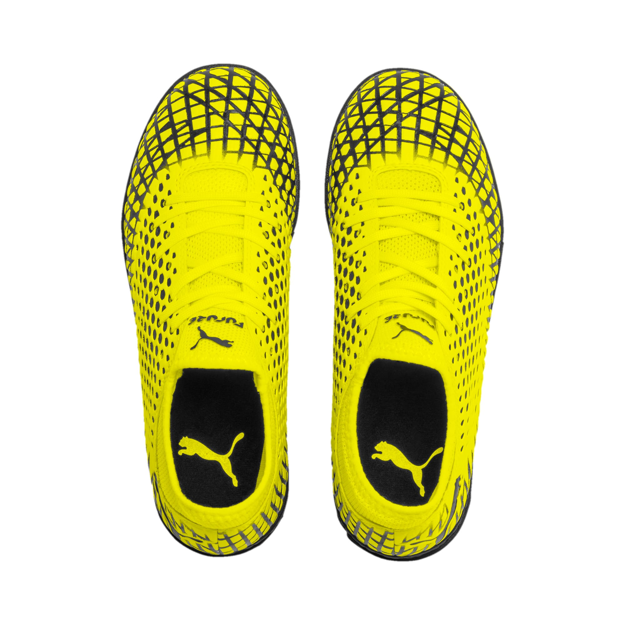Thumbnail 6 of FUTURE 4.4 TT Youth Football Boots, Yellow Alert-Puma Black, medium