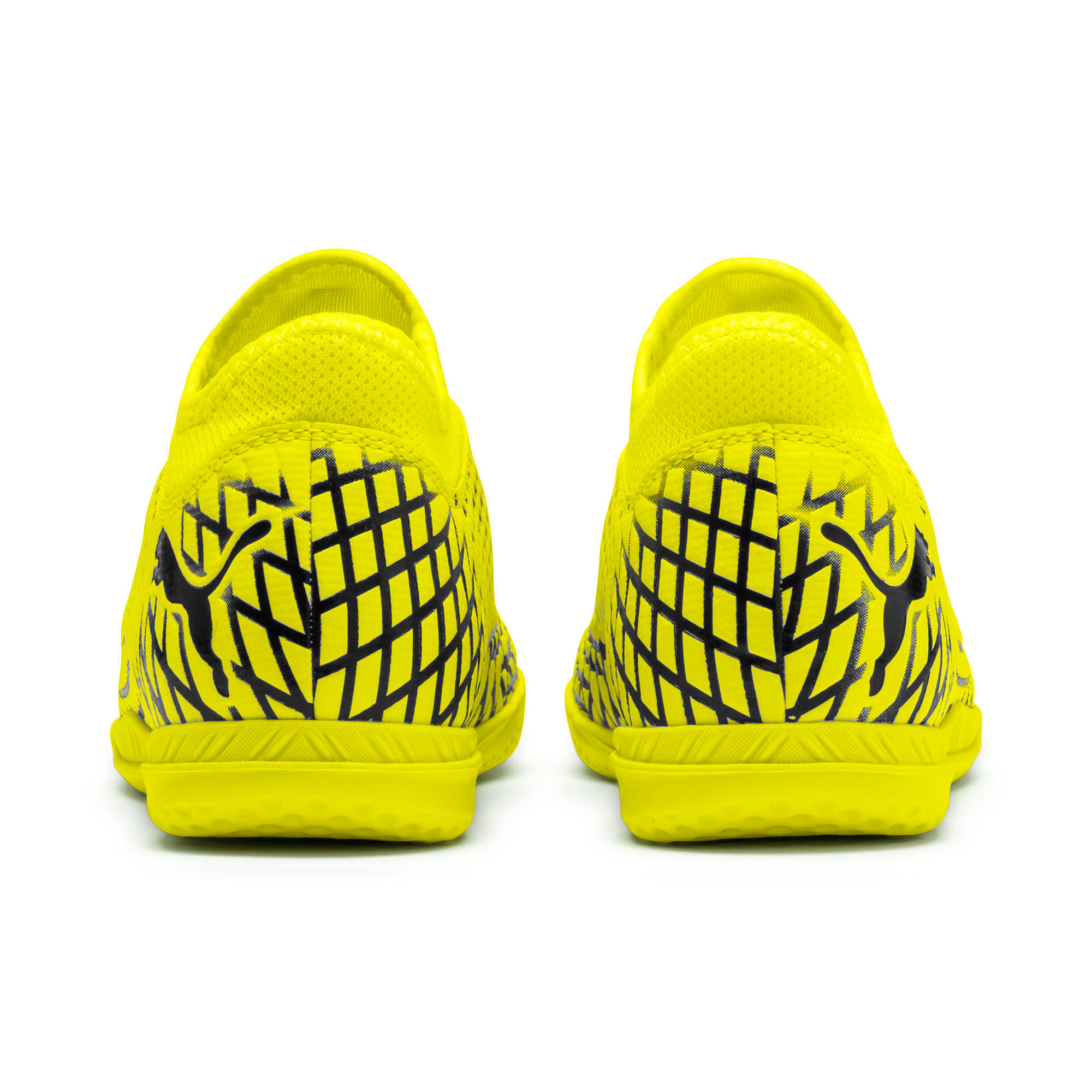 Thumbnail 3 of FUTURE 4.4 IT Youth Football Boots, Yellow Alert-Puma Black, medium