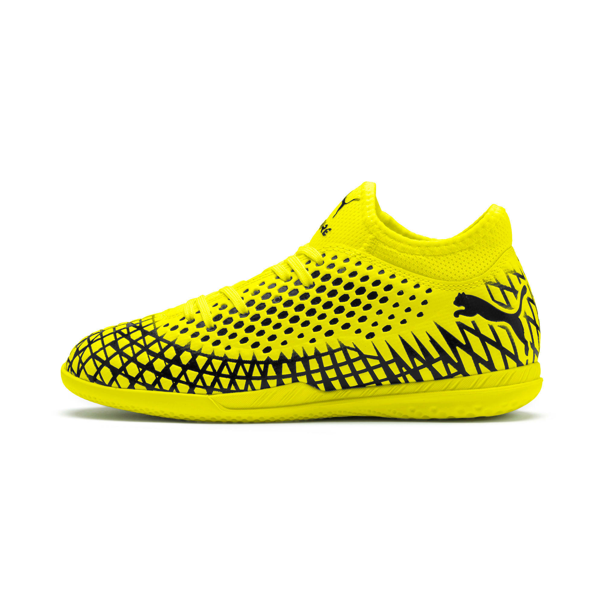 Thumbnail 1 of FUTURE 4.4 IT Youth Fußballschuhe, Yellow Alert-Puma Black, medium