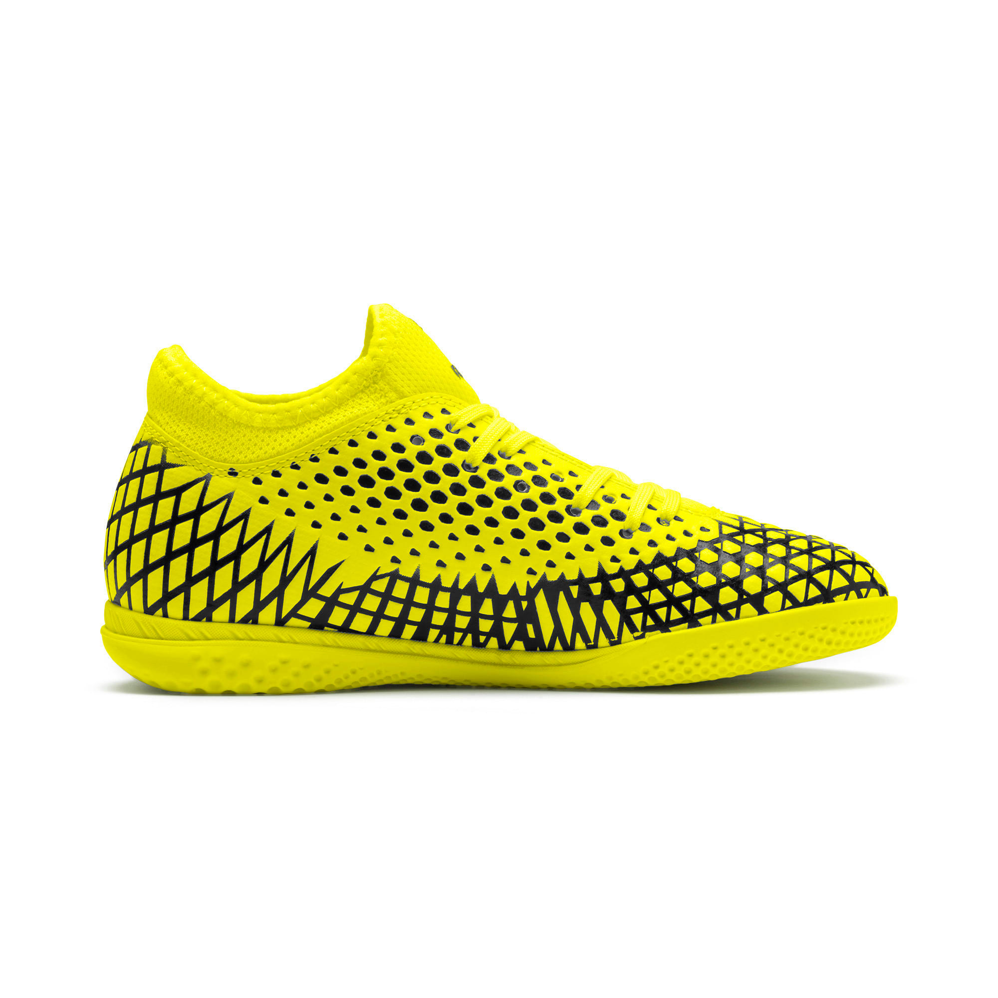 Thumbnail 5 of FUTURE 4.4 IT Youth Football Boots, Yellow Alert-Puma Black, medium