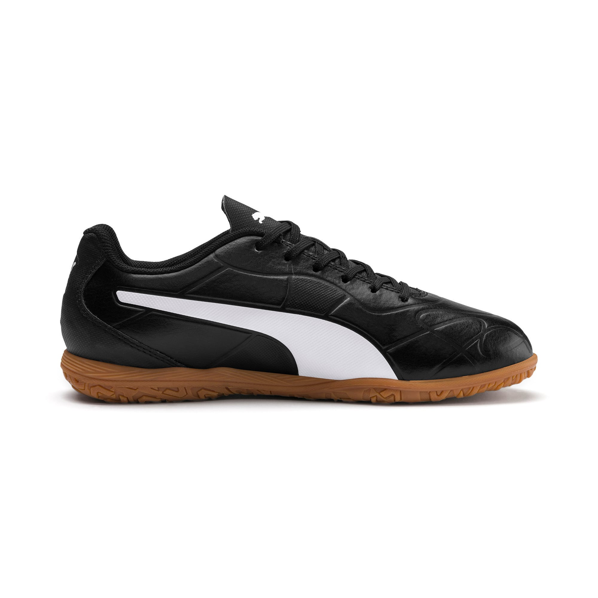 Thumbnail 3 of Monarch IT Youth Football Boot, Puma Black-Puma White, medium-IND