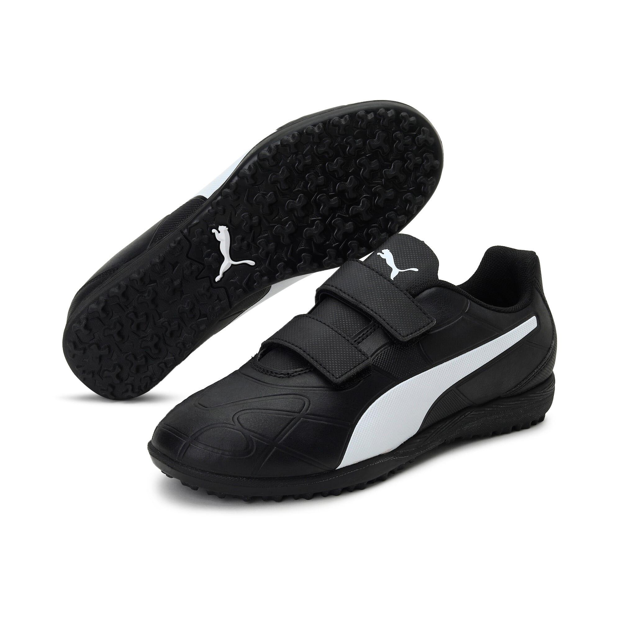 Thumbnail 2 of Monarch TT Youth Football Boots, Puma Black-Puma White, medium-IND